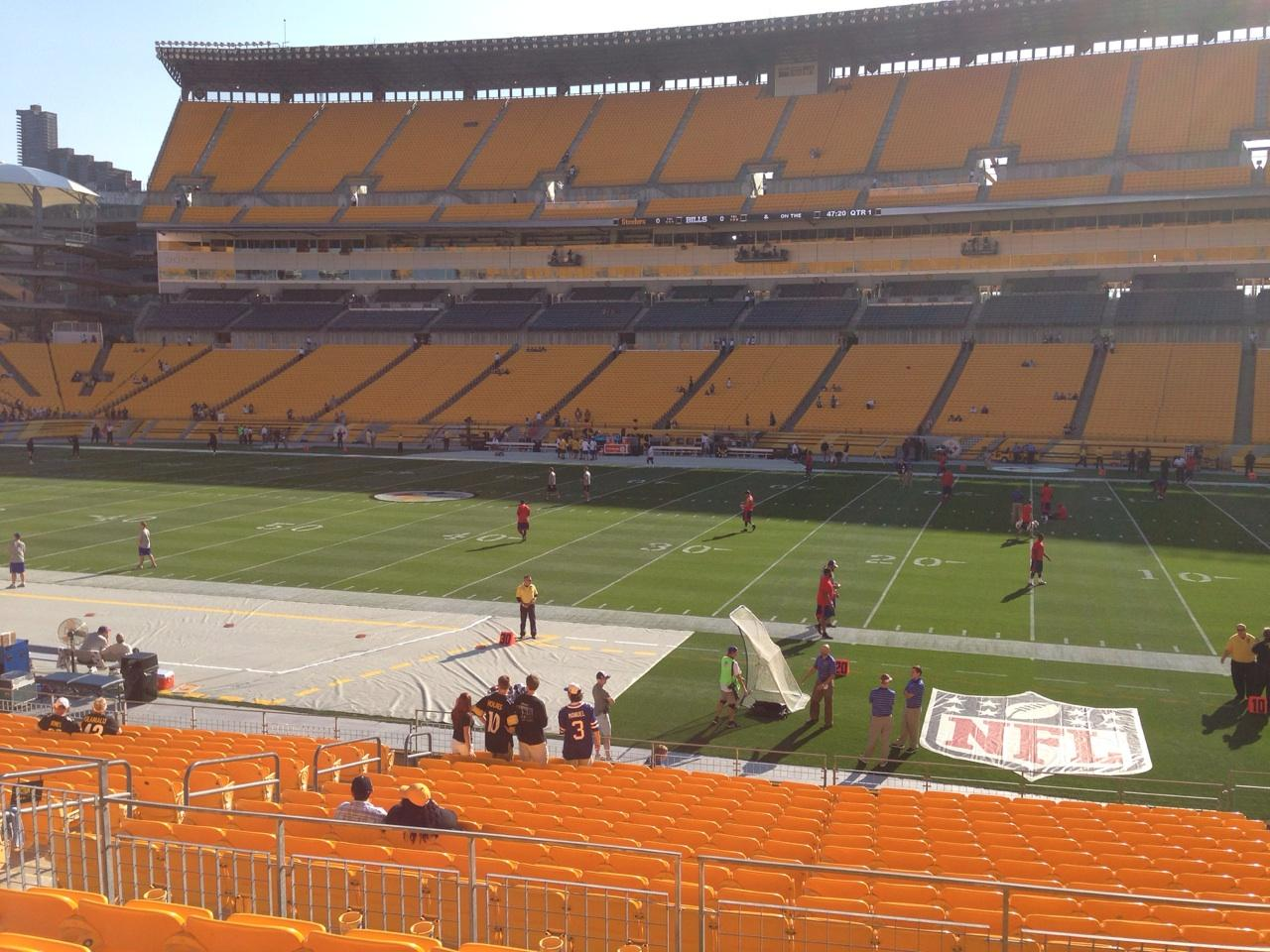 Seat View for Heinz Field Section 113, Row S, Seat 10