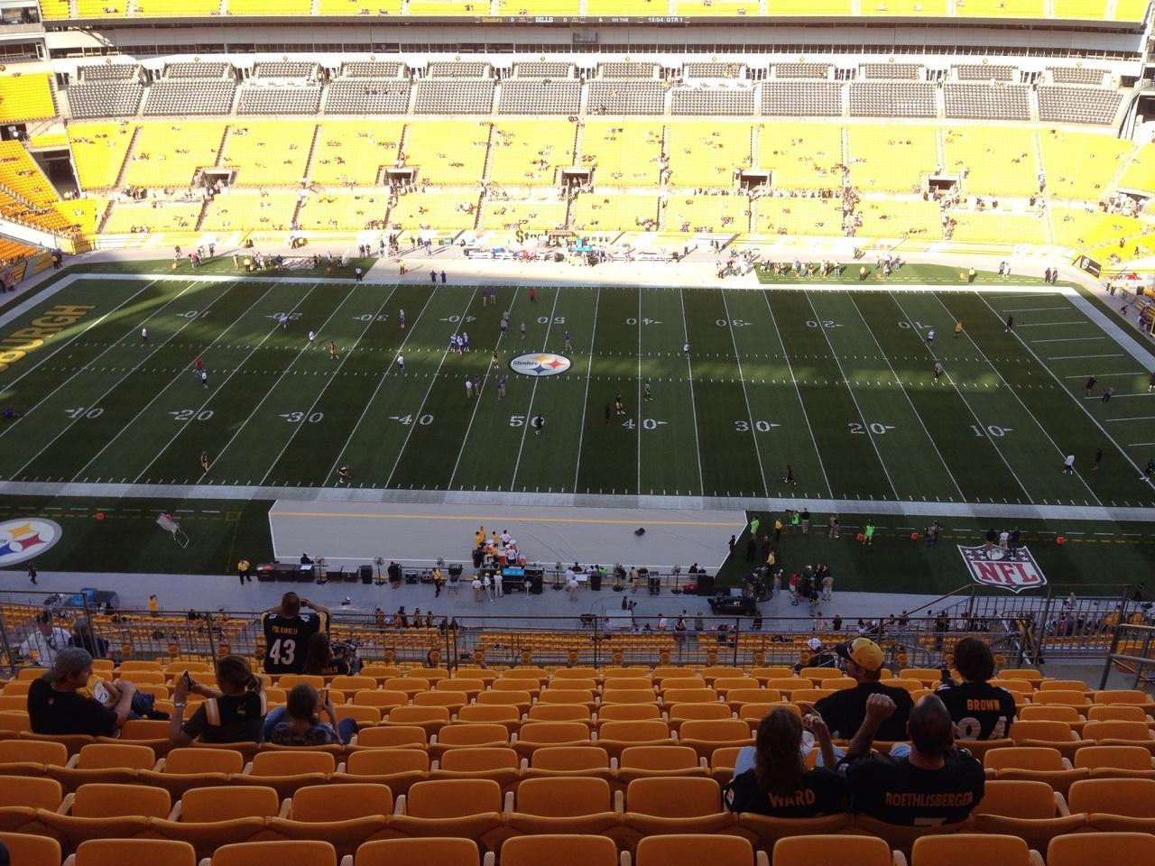 Seat View for Heinz Field Section 535, Row S, Seat 10