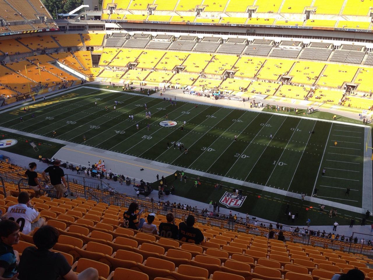 Heinz Field Section 538 Seat Views Seatscore Rateyourseats