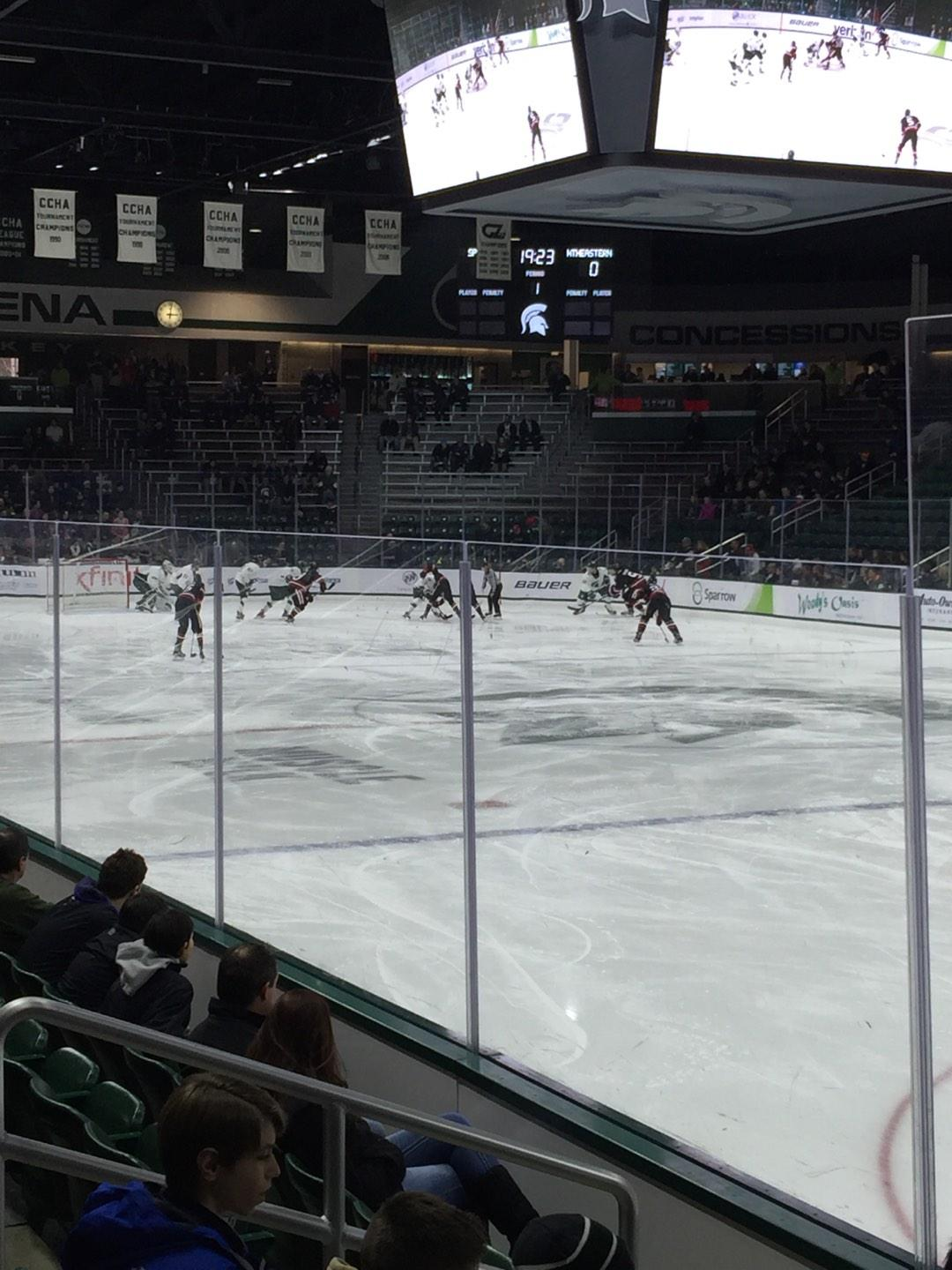 Munn Ice Arena Section F Row 6 Seat 1