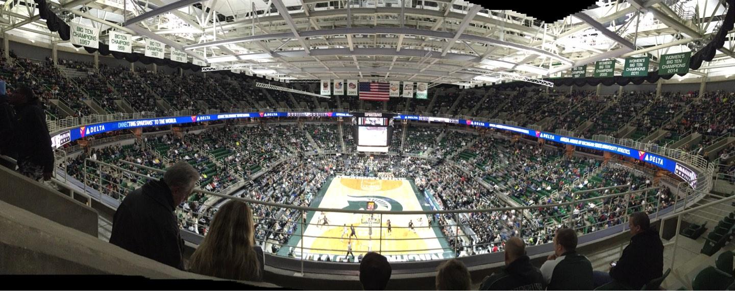 Breslin Center Section 218 Row 4 Seat 6