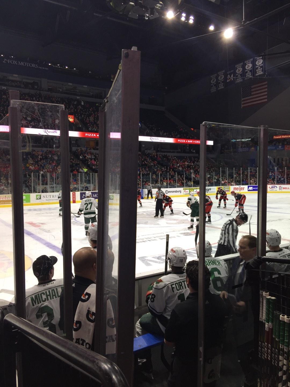 Van Andel Arena Section 123 Row D Seat 8
