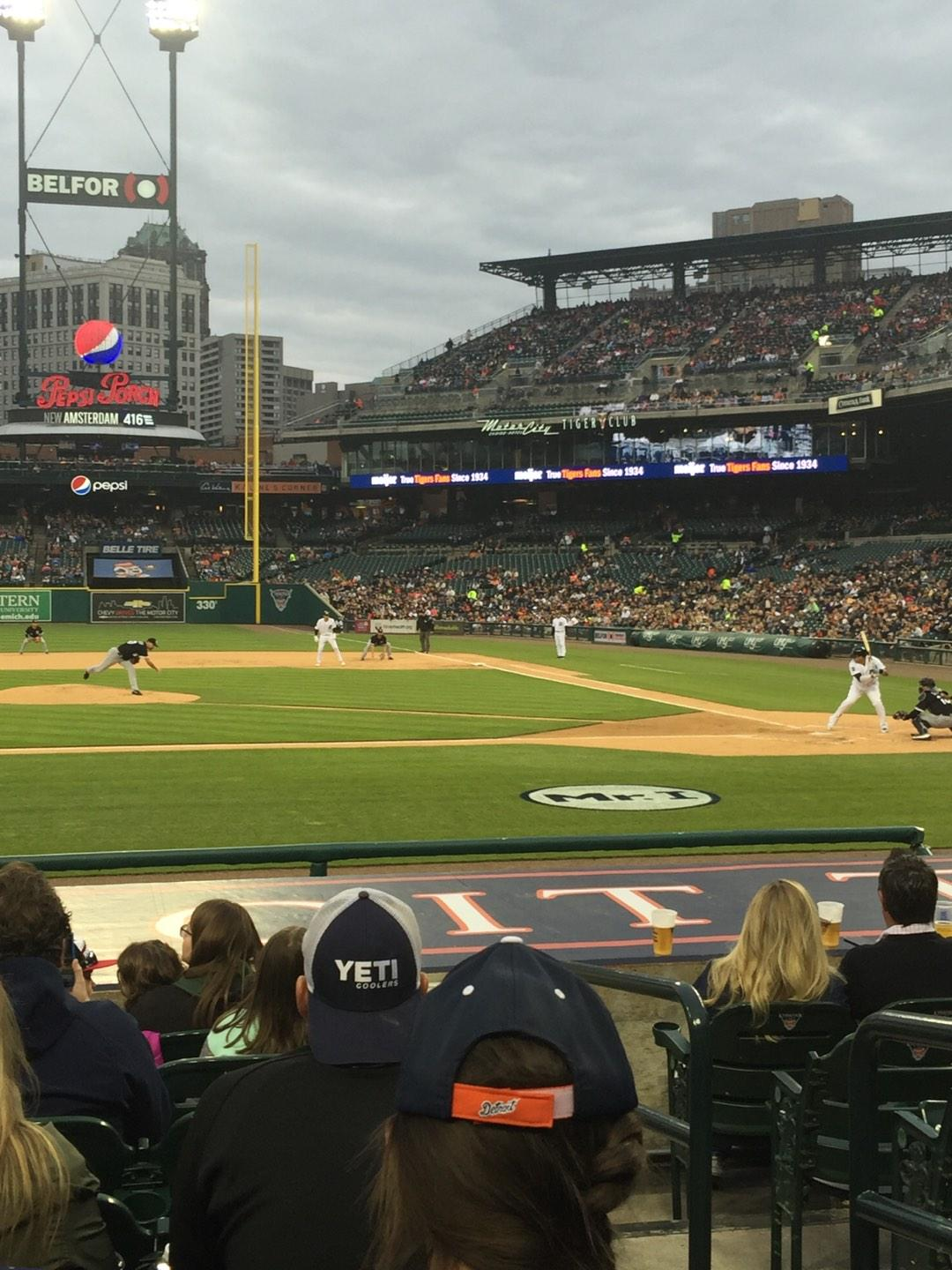 Comerica Park Section 133 Row 14 Seat 2