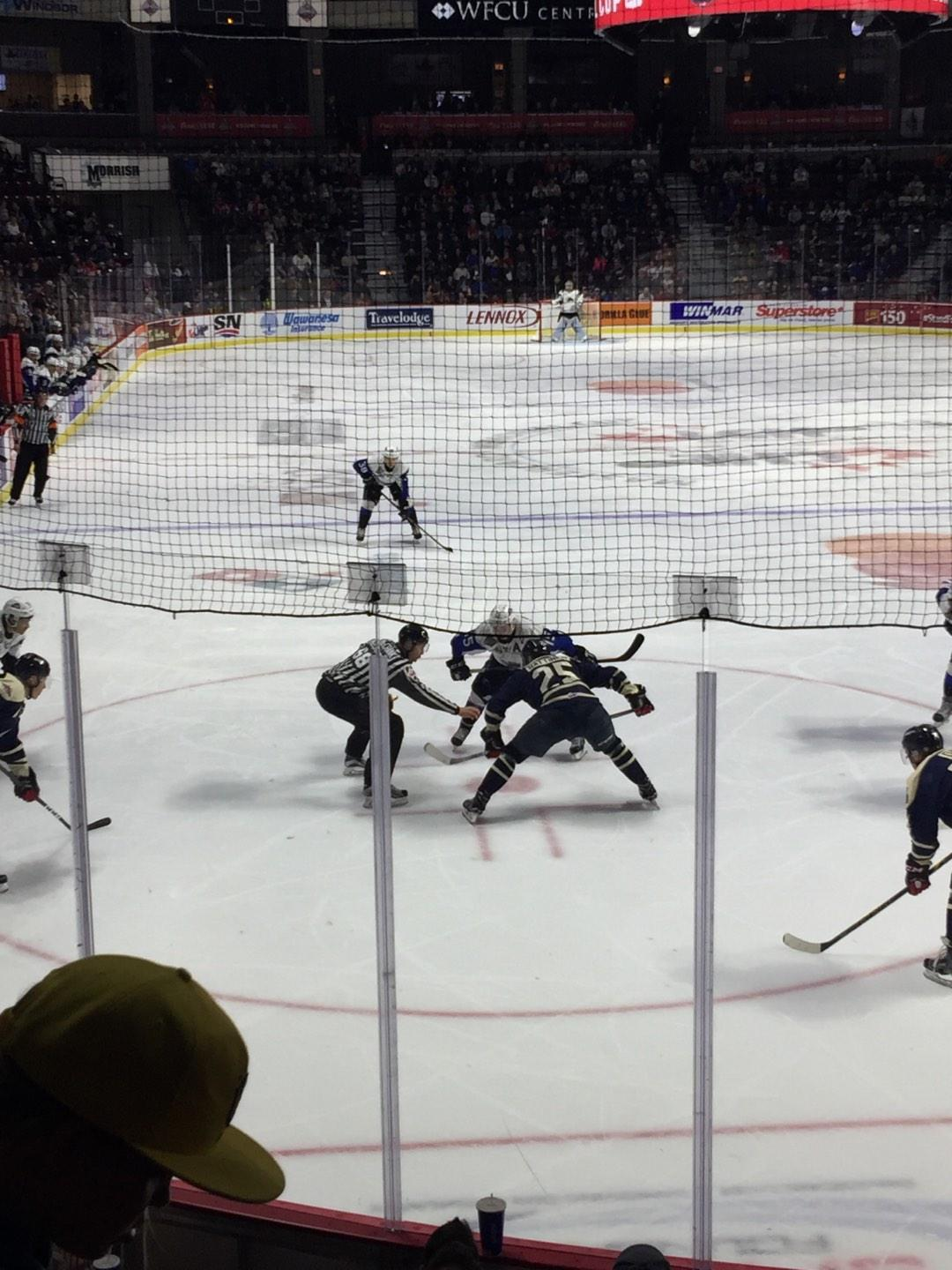WFCU Centre Section 110 Row H Seat 5