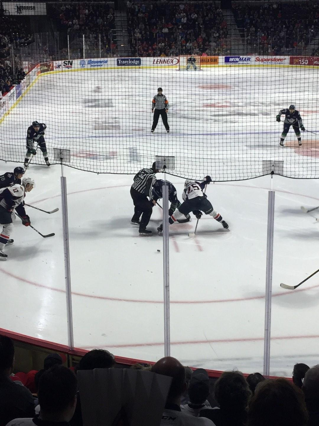 WFCU Centre Section 110 Row I Seat 6