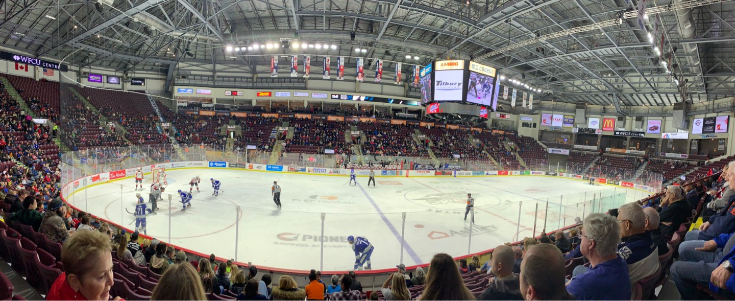 WFCU Centre Section 105 Row I Seat 11