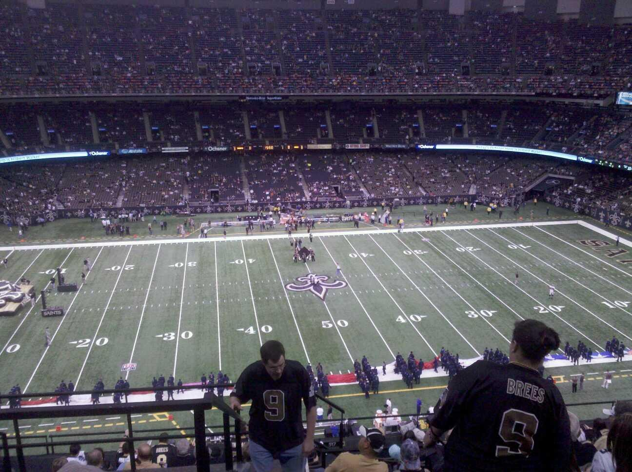 Mercedes-Benz Superdome Section 615 Row 13 Seat 18