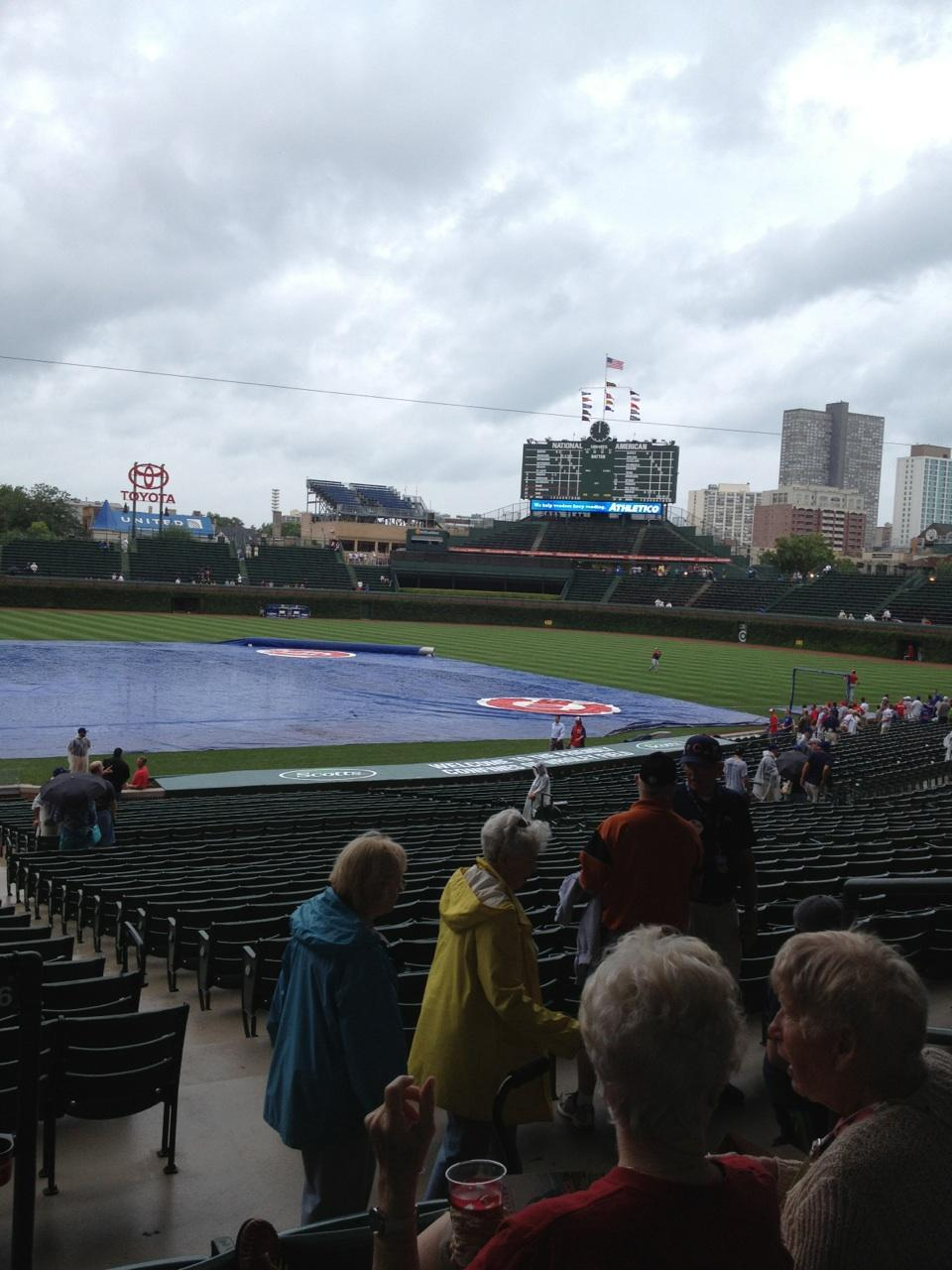 Wrigley Field Section  Seat  Chicago Cubs Vs