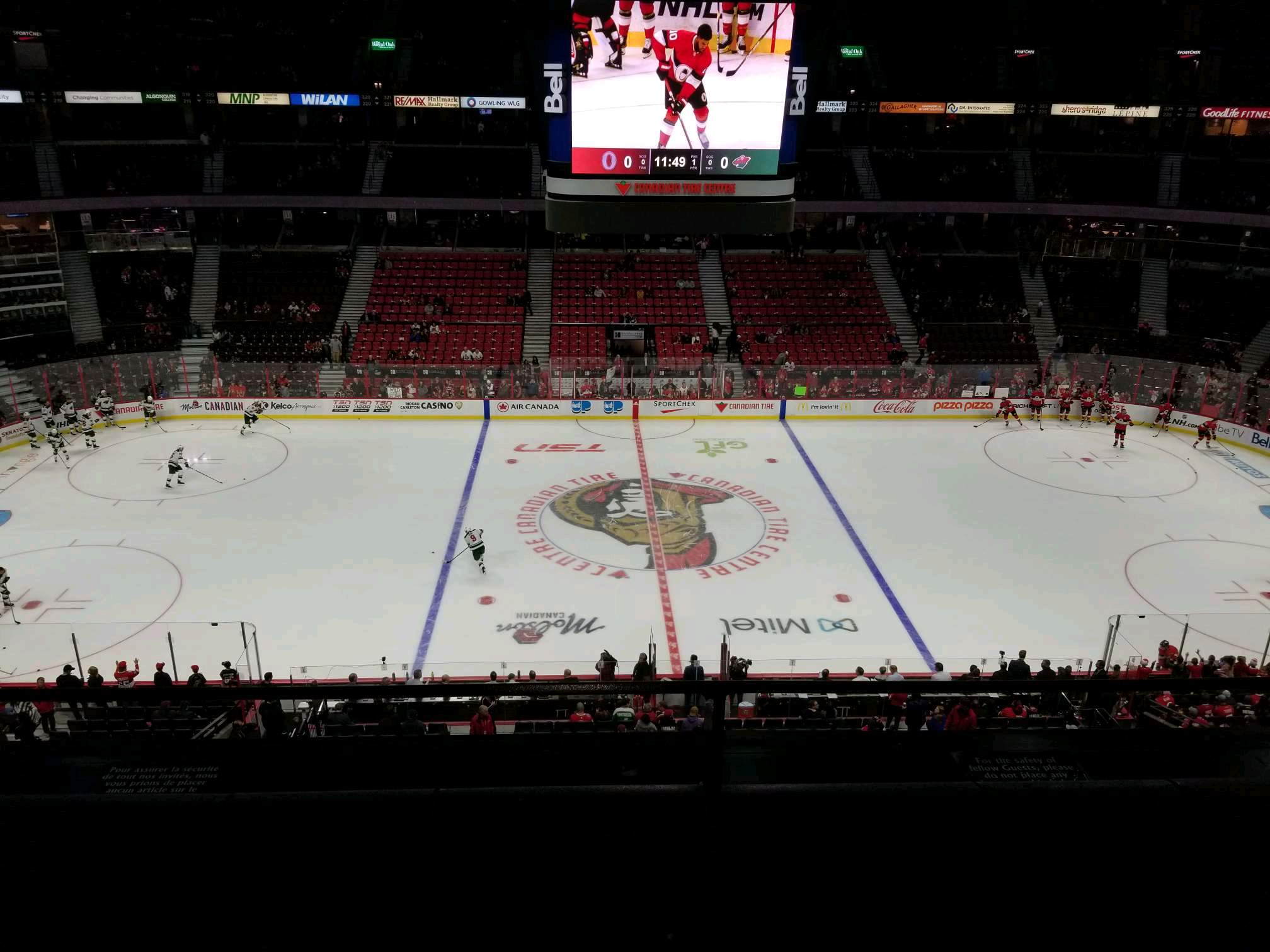 Canadian Tire Centre Section 308 Row b Seat 13