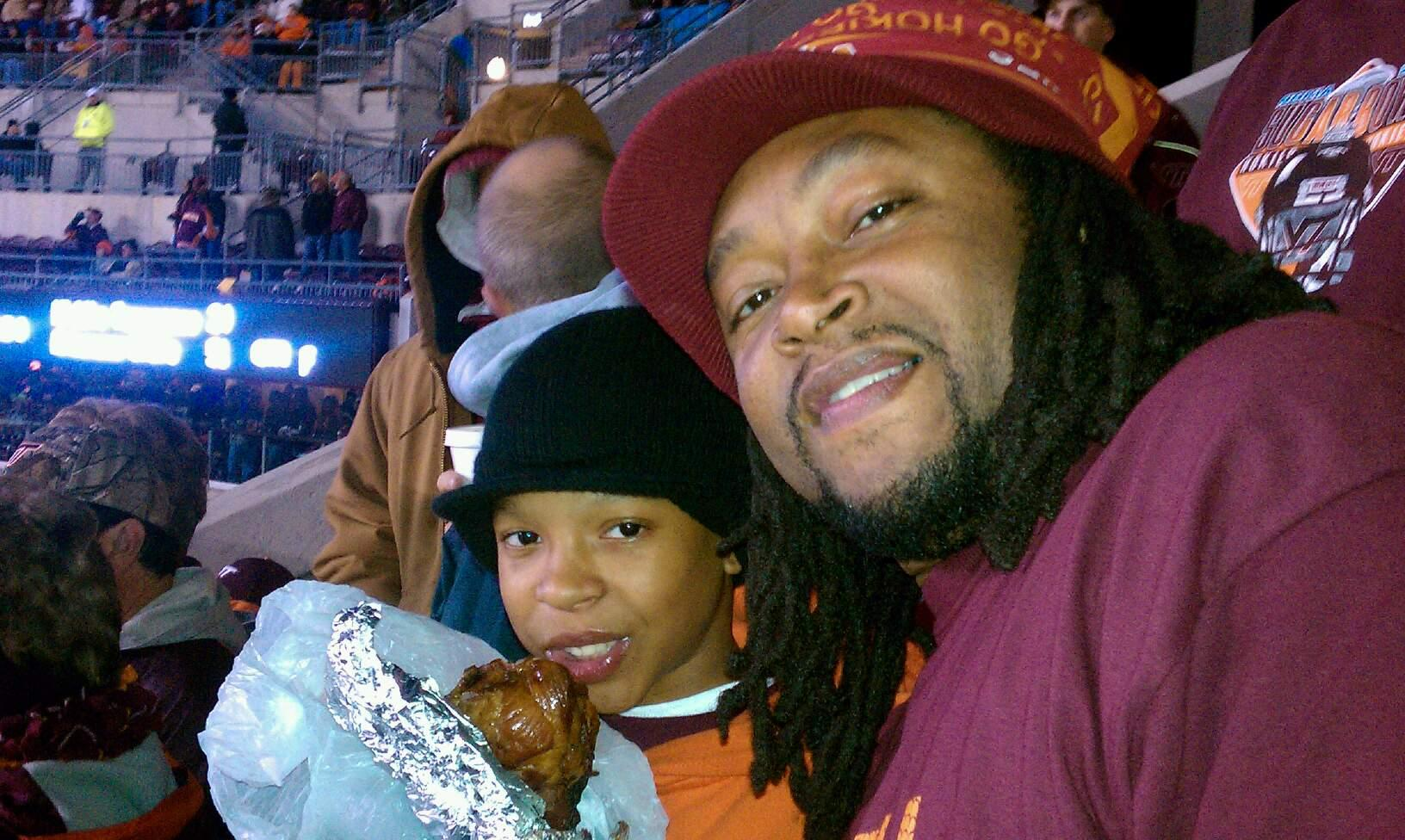 Lane Stadium Section 20 Row dd Seat 12