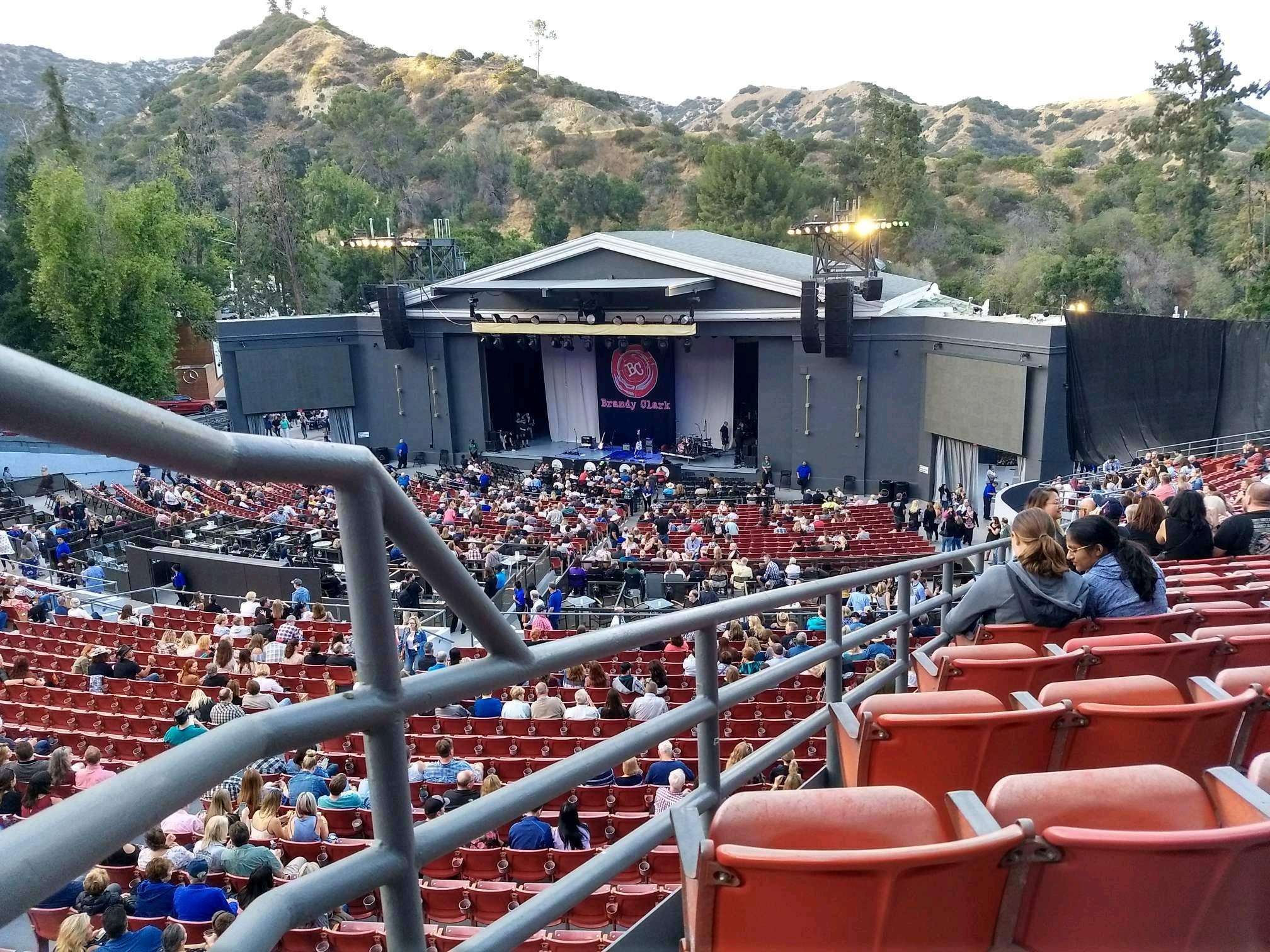 The Greek Theatre Section South Terrace R3 Row X Seat 2