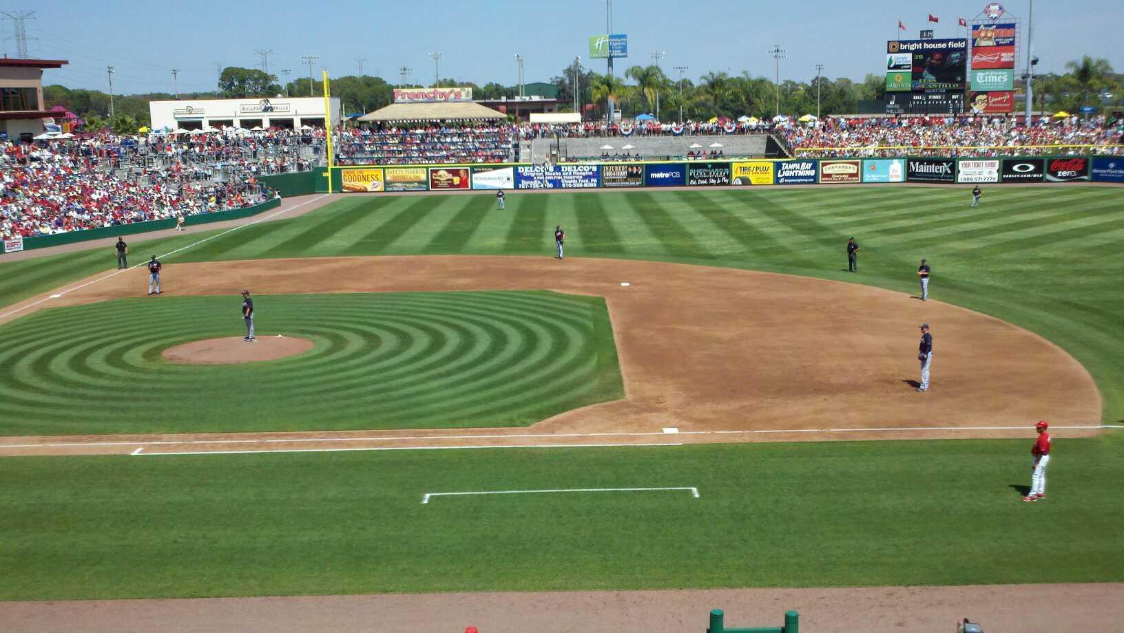 BayCare Ballpark Section 203 Row 1 Seat 10