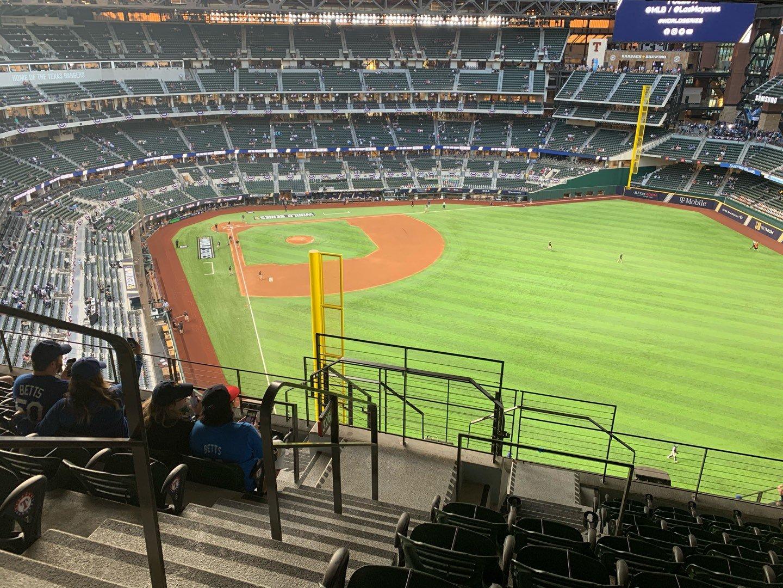 Globe Life Field Section 326 Row 9 Seat 1