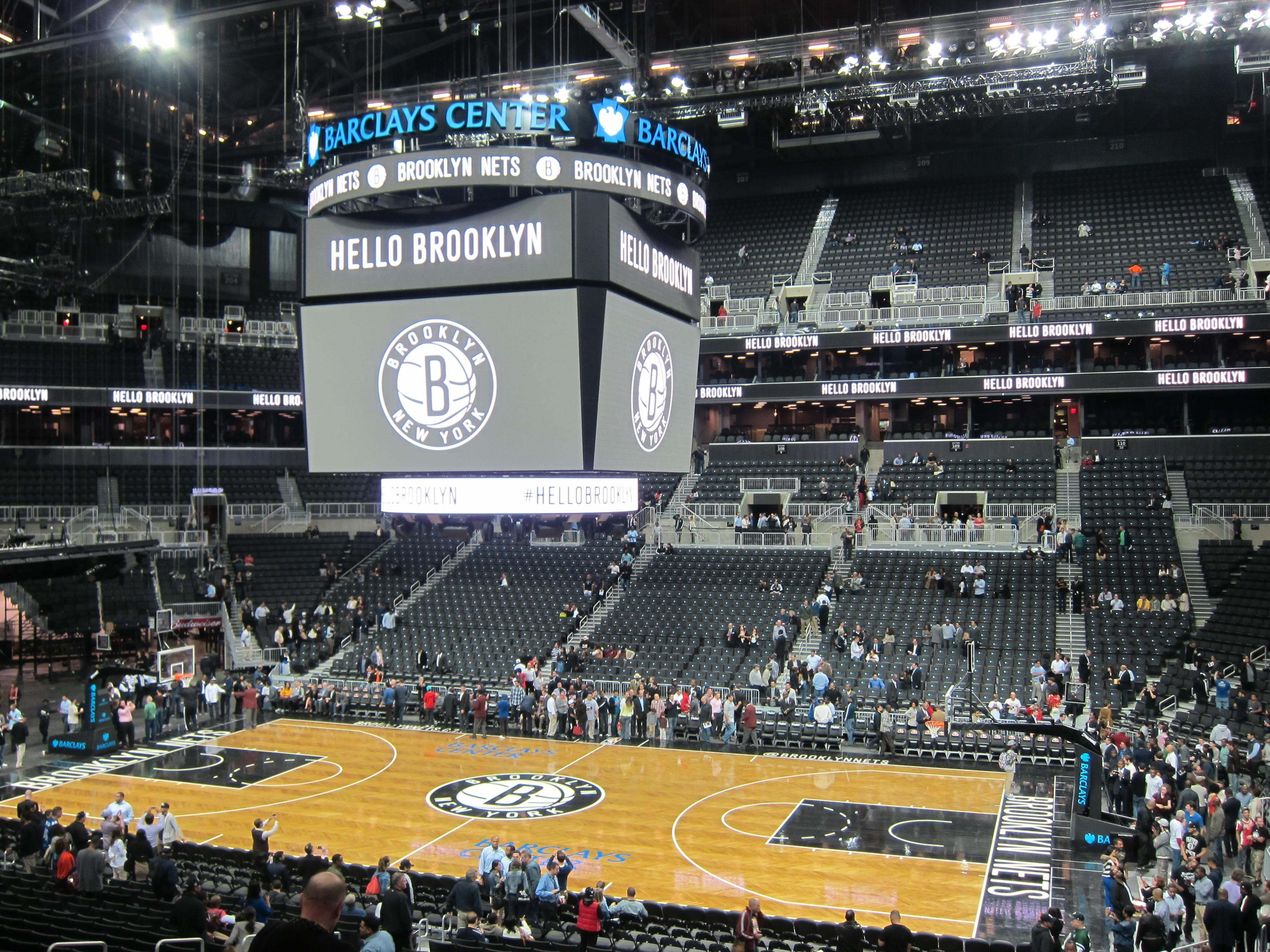 Barclays Center Section 122 Row 5 Seat 7 Brooklyn Nets
