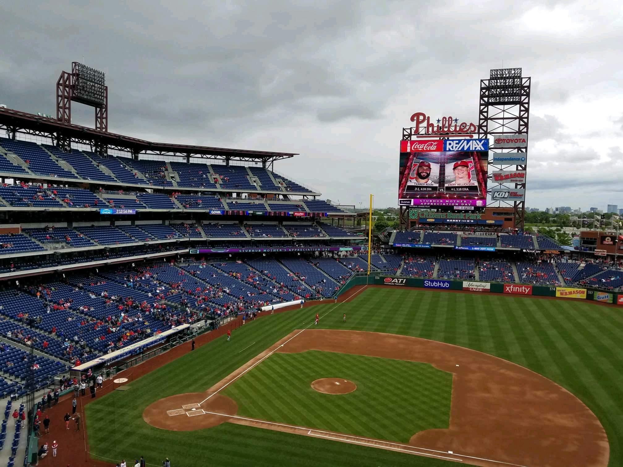 Citizens Bank Park Section 315 Row 1 Seat 3