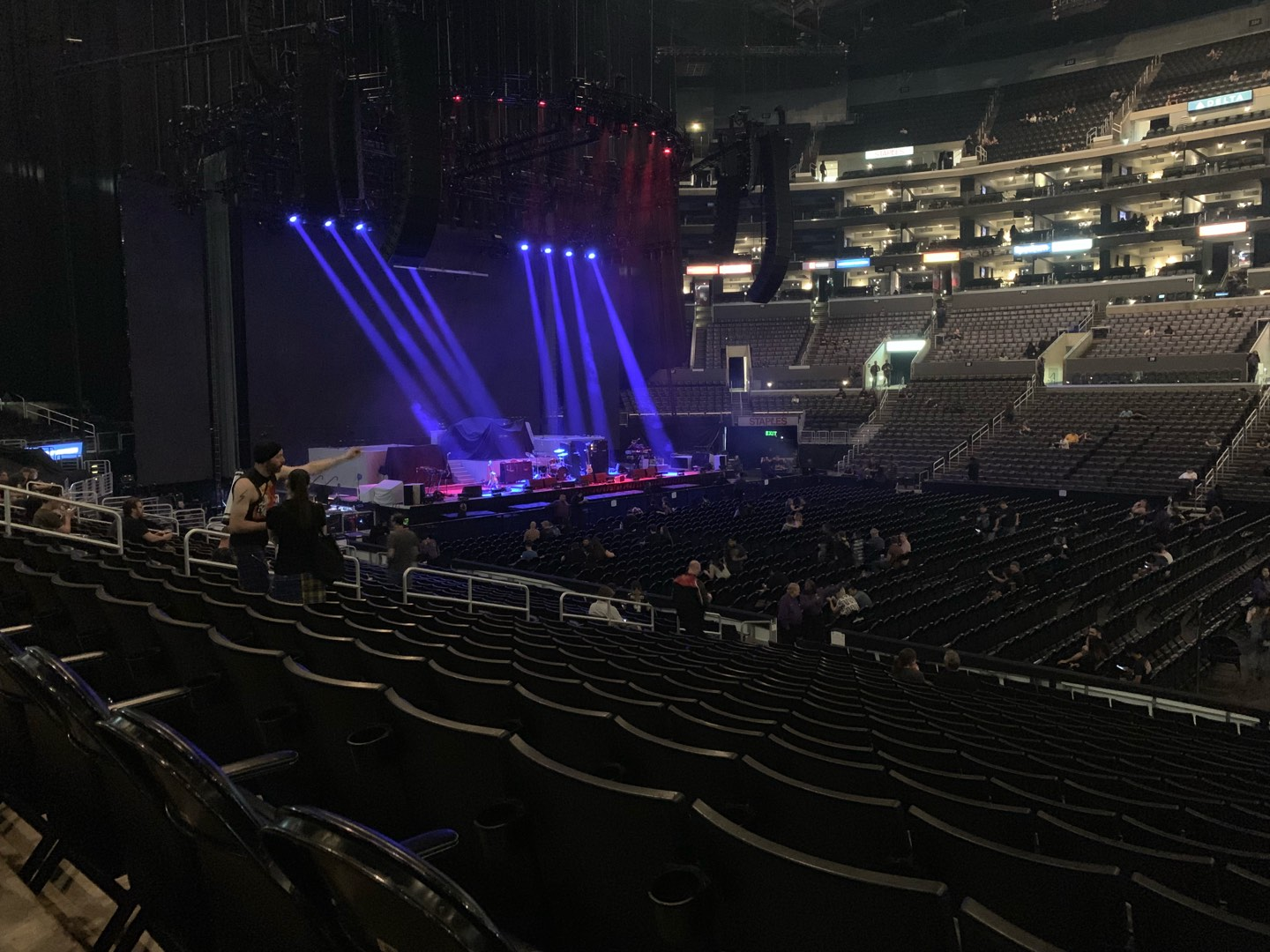 Staples Center Section 111 Row 18 Seat 3