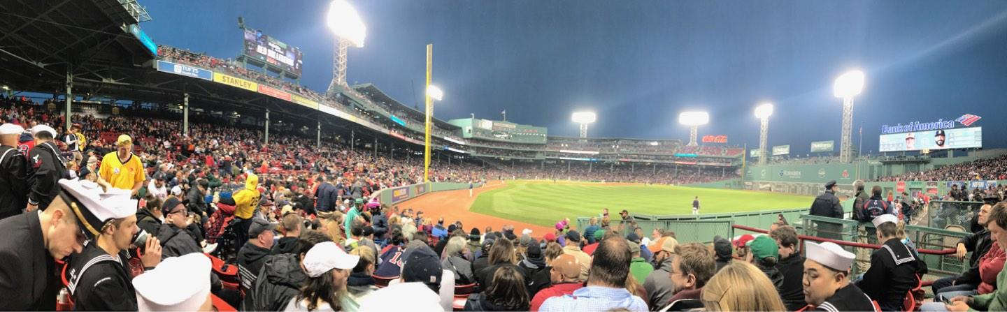 Fenway Park Section Right Field Box 1 Row M Seat 13