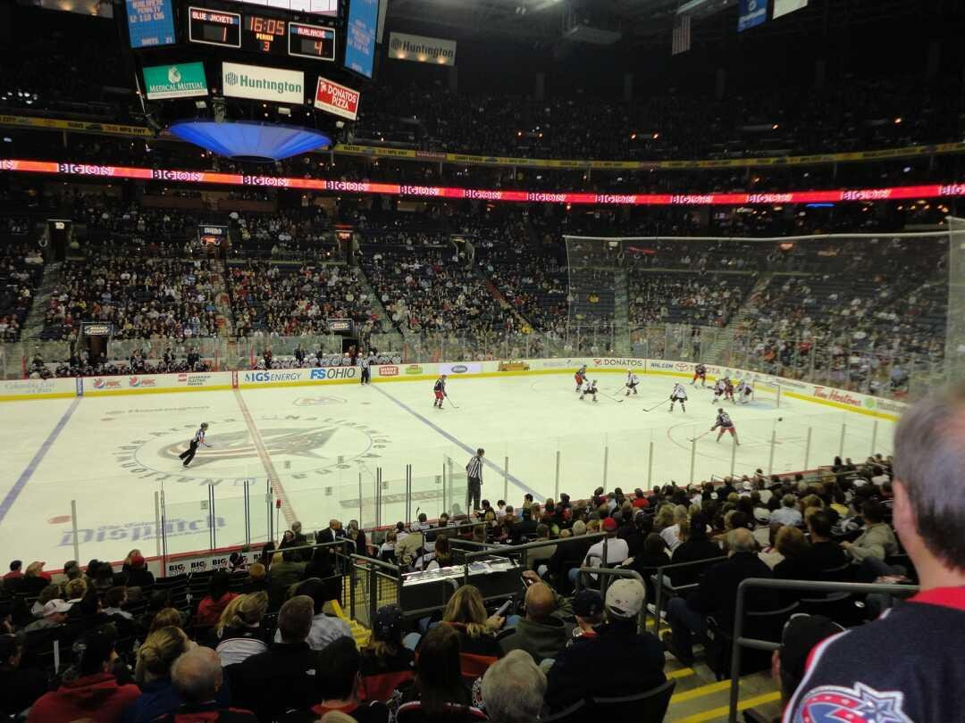 Nationwide Arena Section 115 Row S Seat 8 Columbus Blue