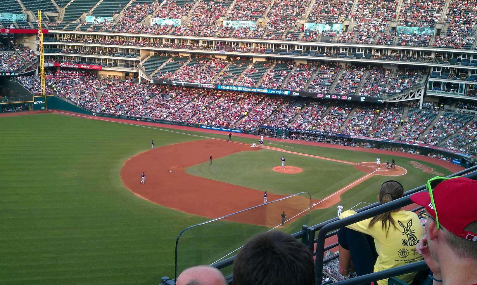 Progressive Field Section 476 Row C Seat 4