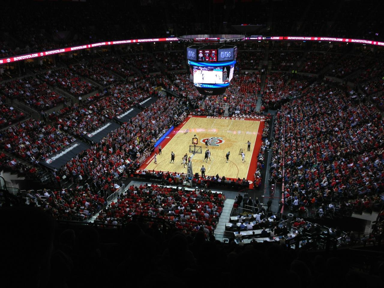 Schottenstein Center Section 330 Ohio State Basketball