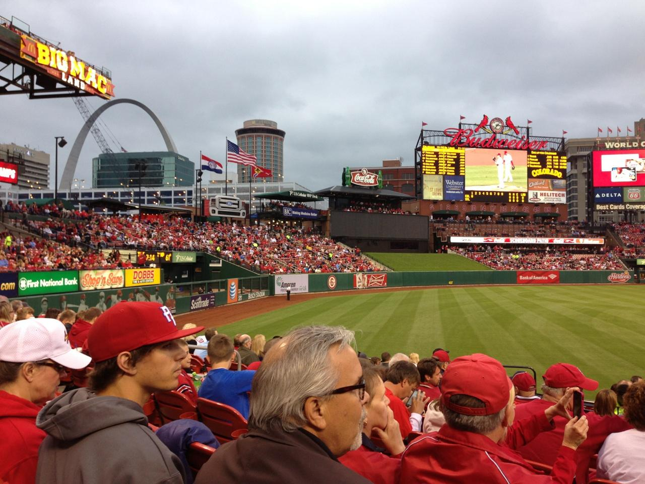 Busch Stadium Section 166 Seat Views/SeatScore - RateYourSeats