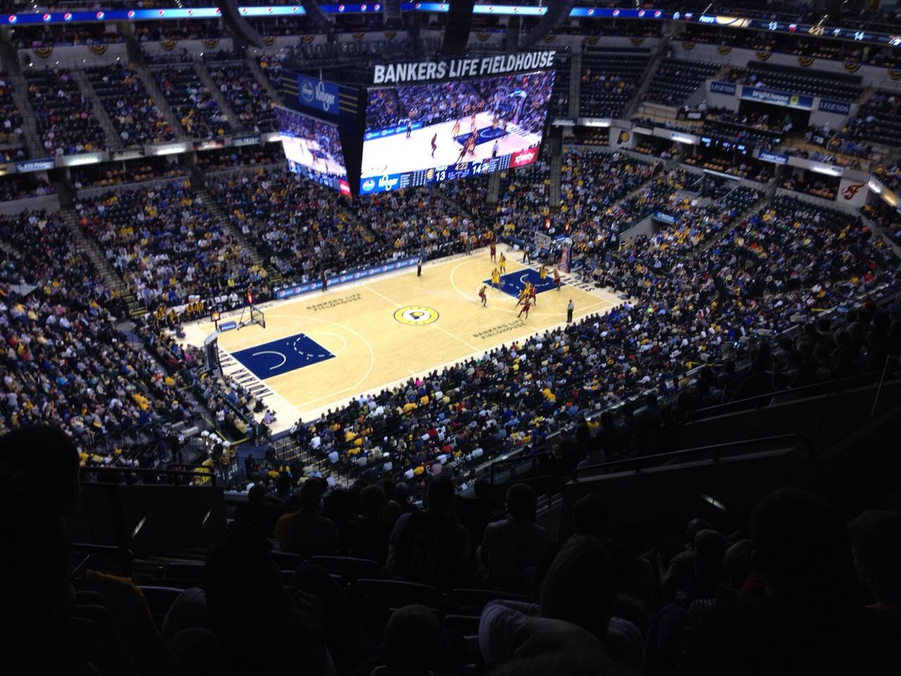 Bankers Life Fieldhouse Section 227 Row 12 Seat 17