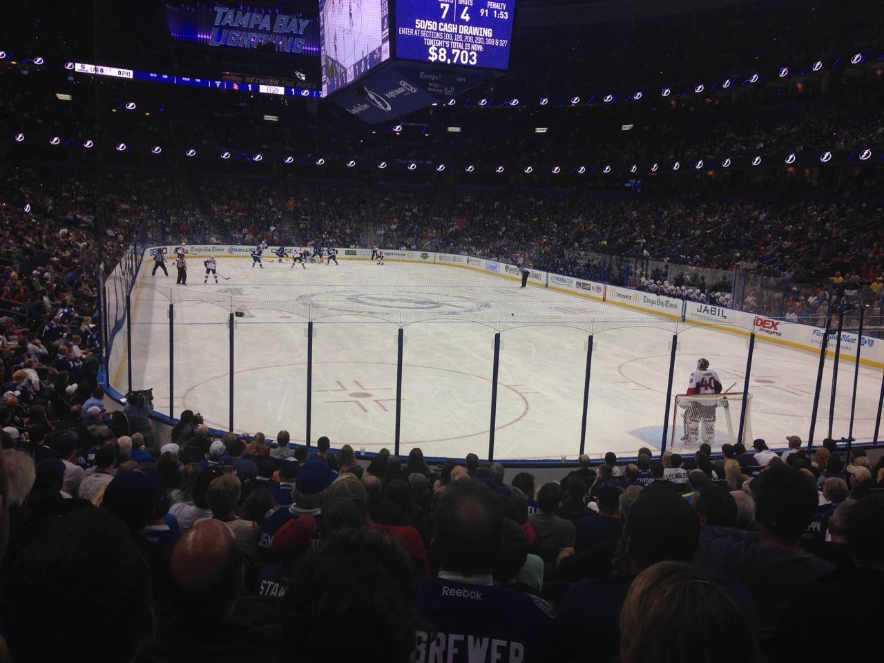 Amalie Arena Section 110 Row S Seat 5