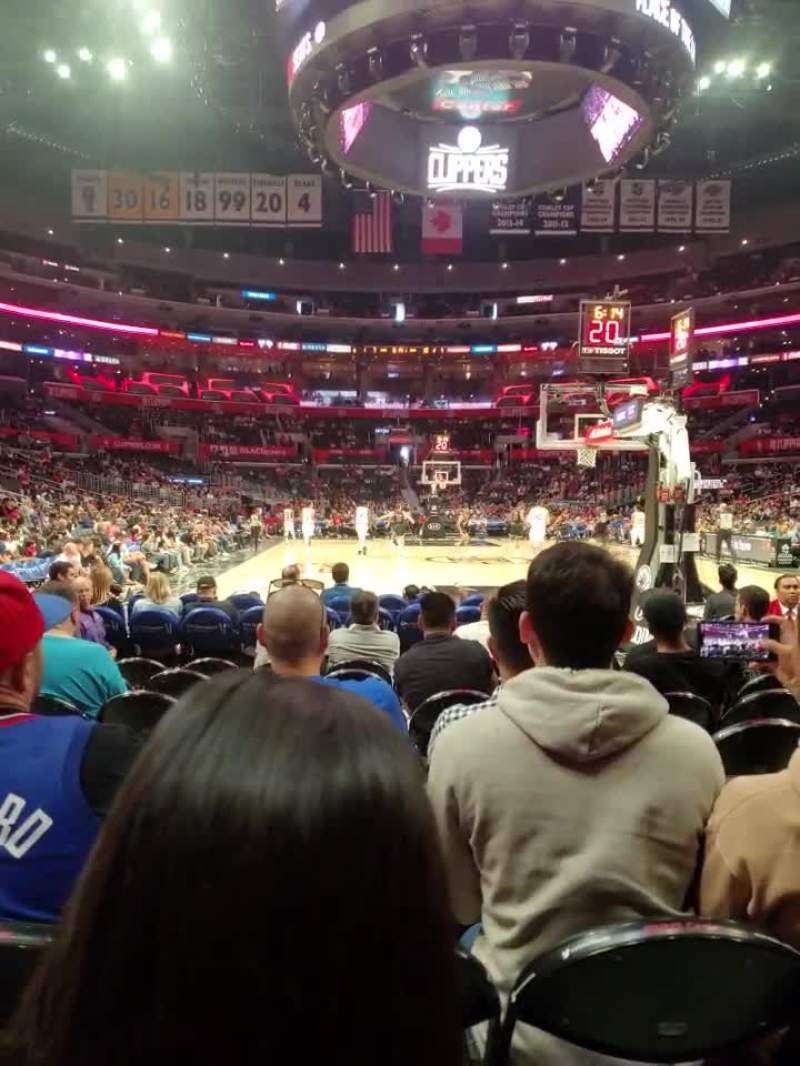 Staples Center Section 107 Row J Seat 8