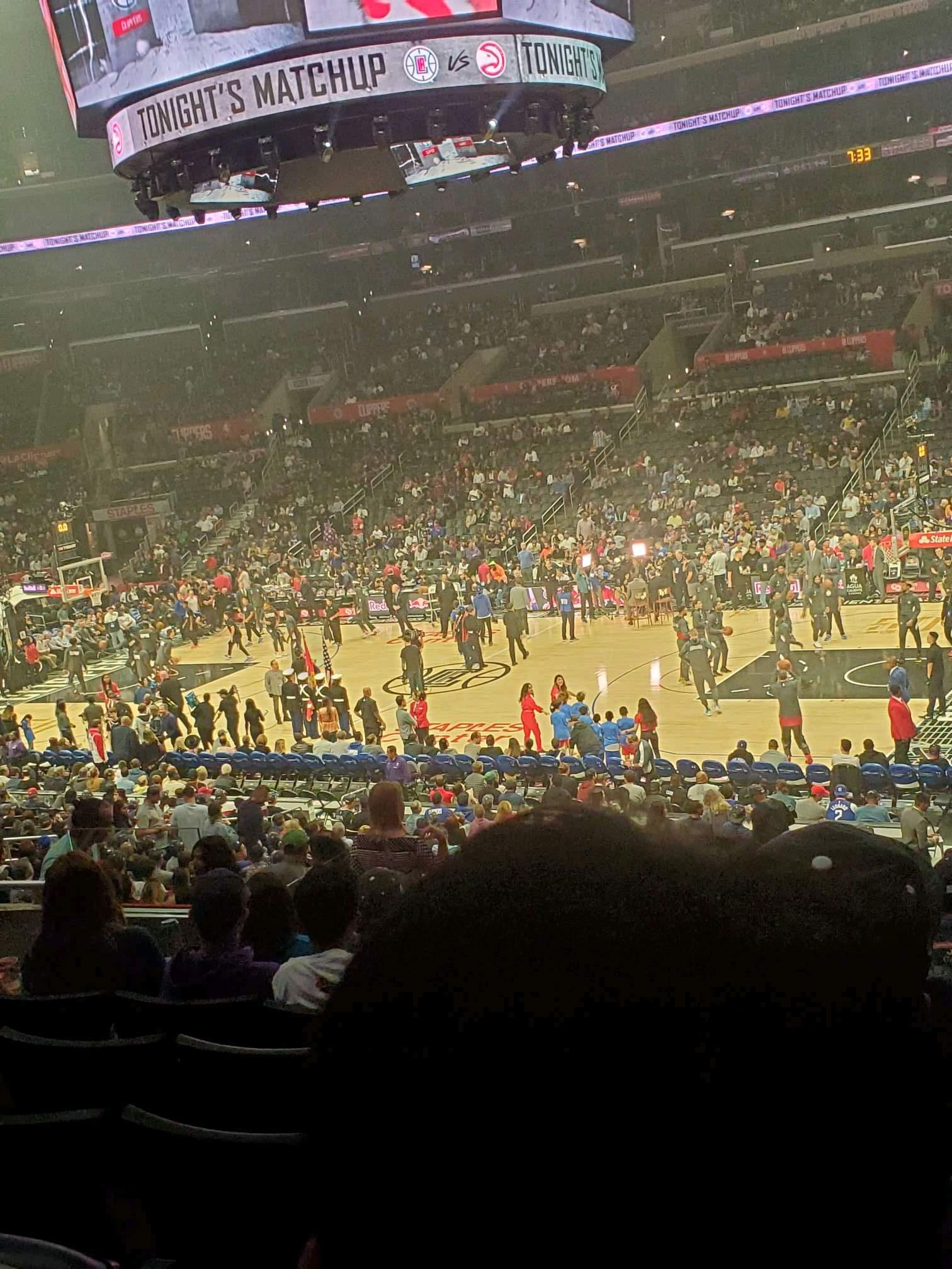 Staples Center Section PR12 Row 7 Seat 6