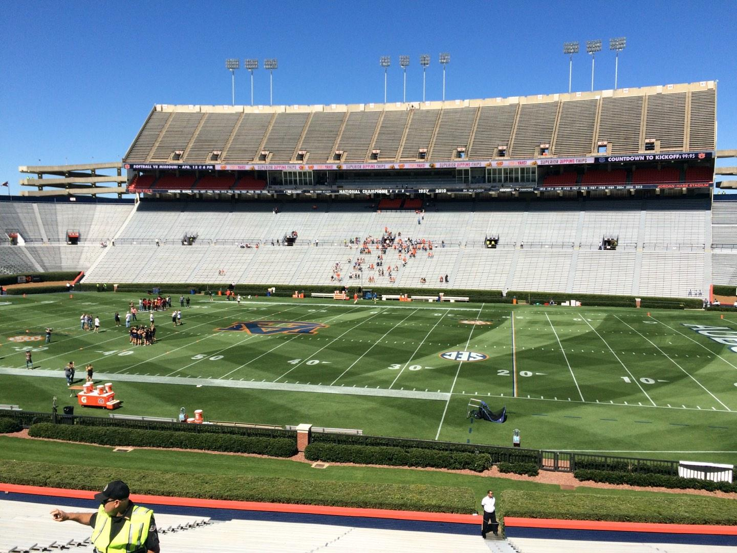 Jordan-Hare Stadium Section 31 Row 32 Seat 5