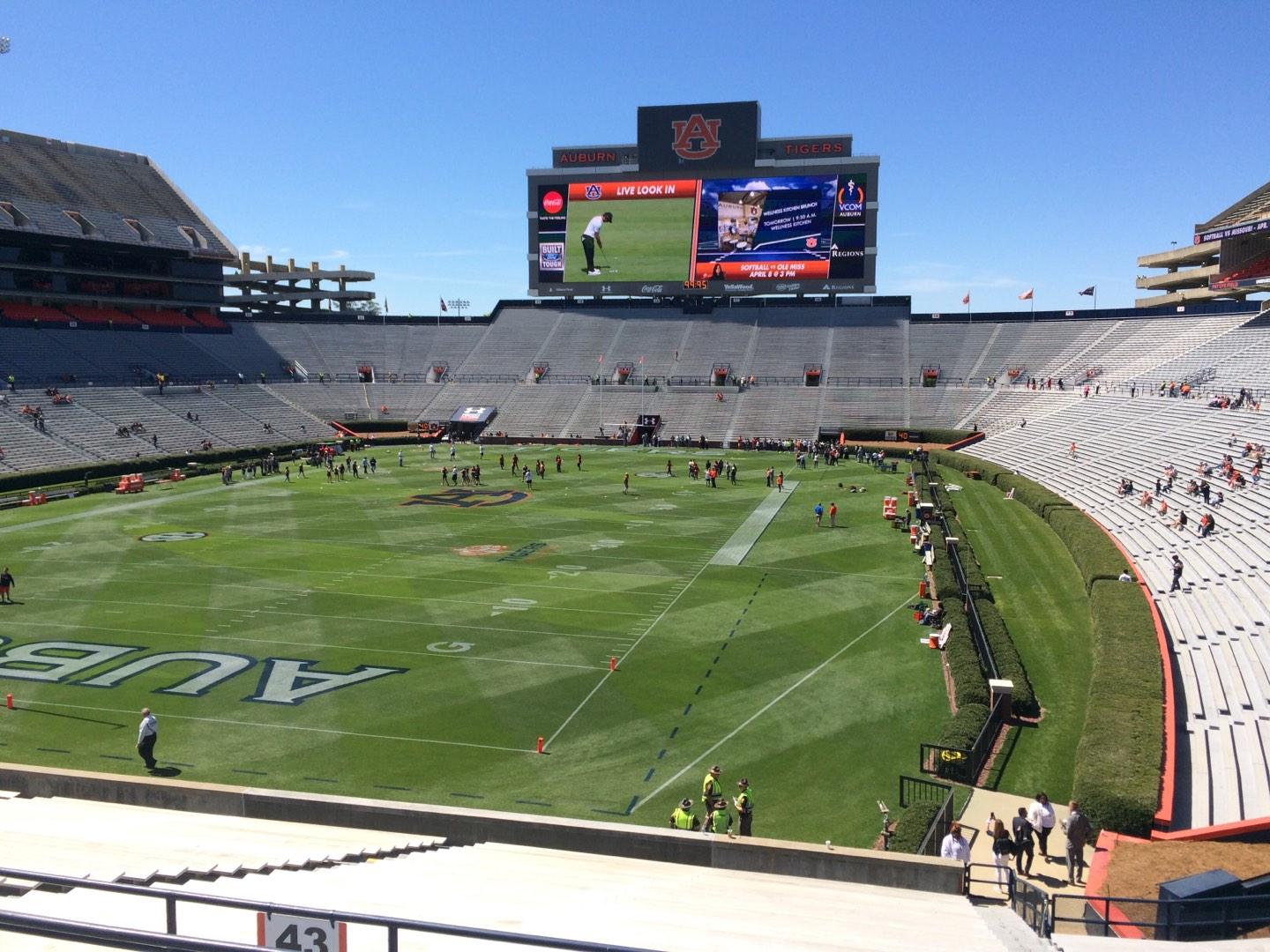 Jordan-Hare Stadium Section 43 Row 34 Seat 5