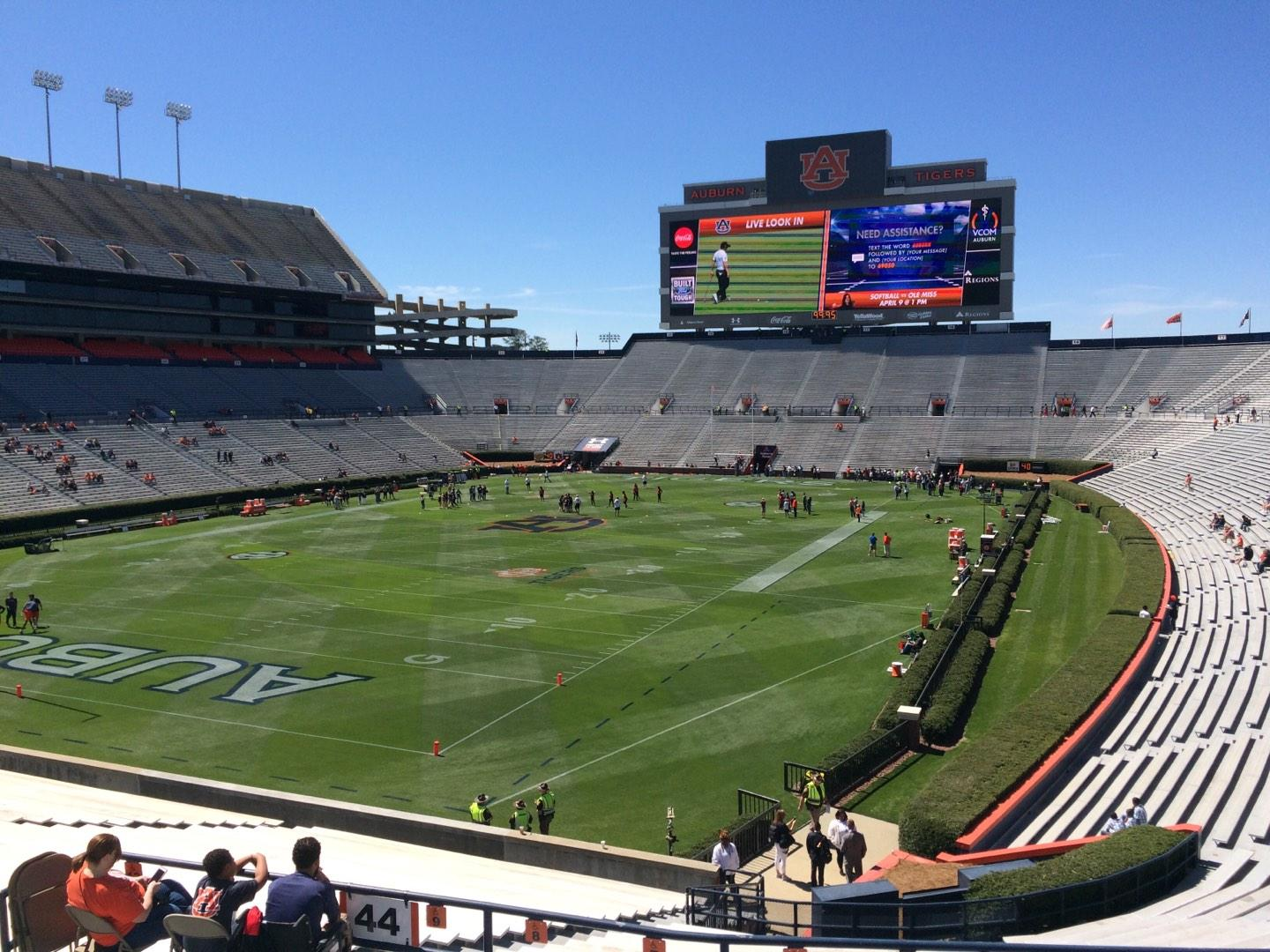 Jordan-Hare Stadium Section 44 Row 34 Seat 5