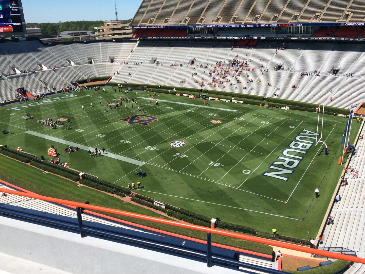 Jordan-Hare Stadium Section 113 Row 5 Seat 7