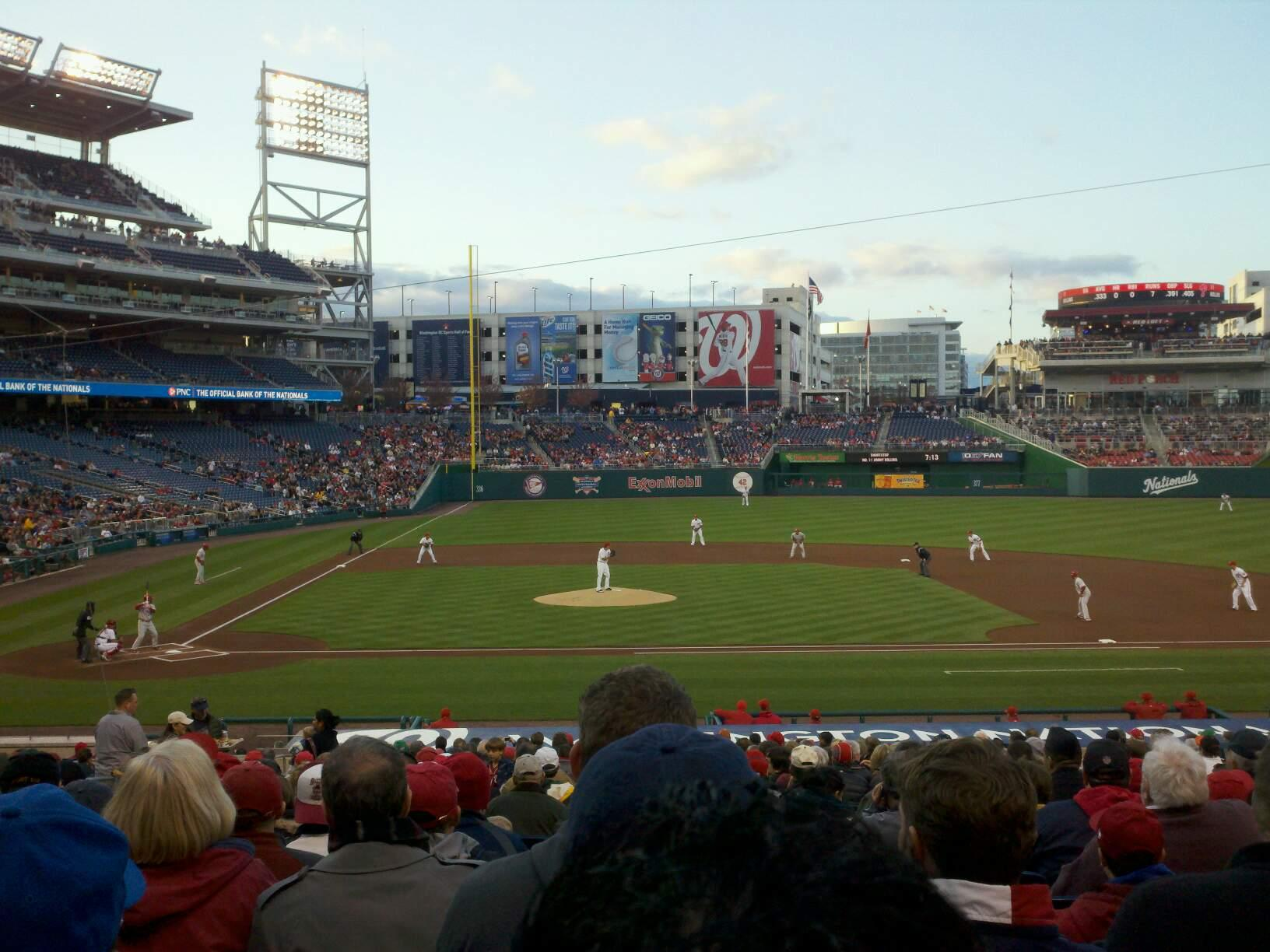Nationals Park Section 128 Row GG Seat 7