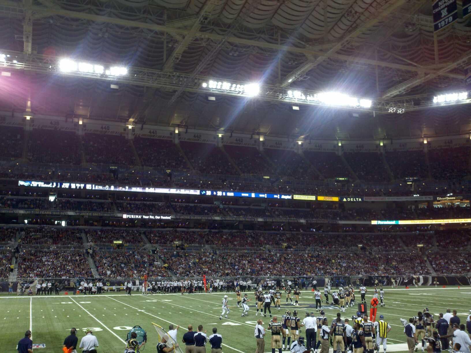 The Dome at America's Center Section 115 Row I Seat 21