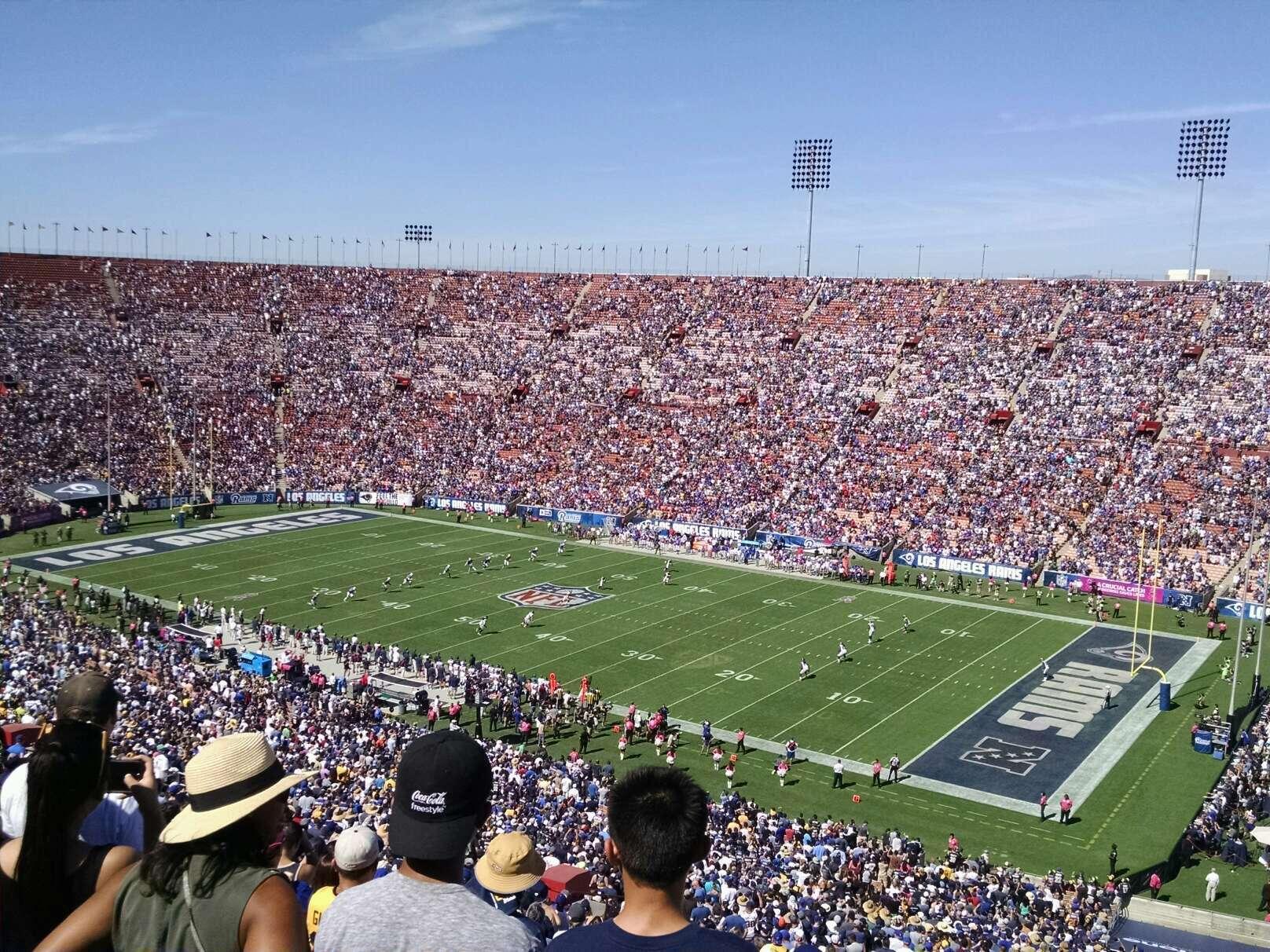 Los Angeles Memorial Coliseum Section 3L Row 80 Seat 13