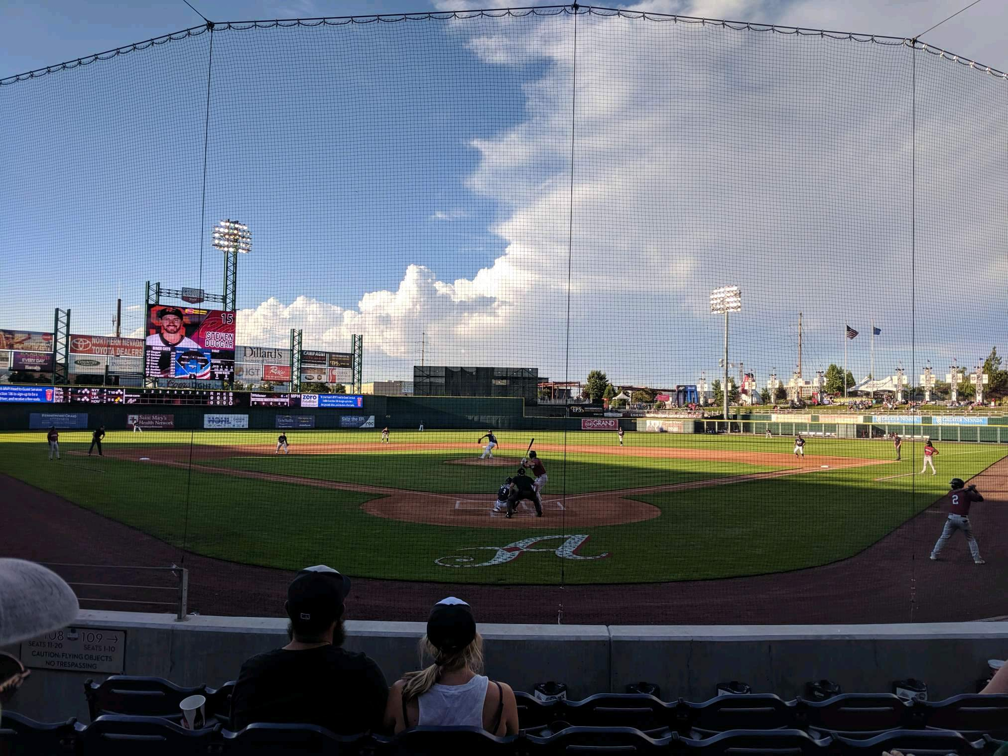 Greater Nevada Field Section 109 Row 11 Seat 5