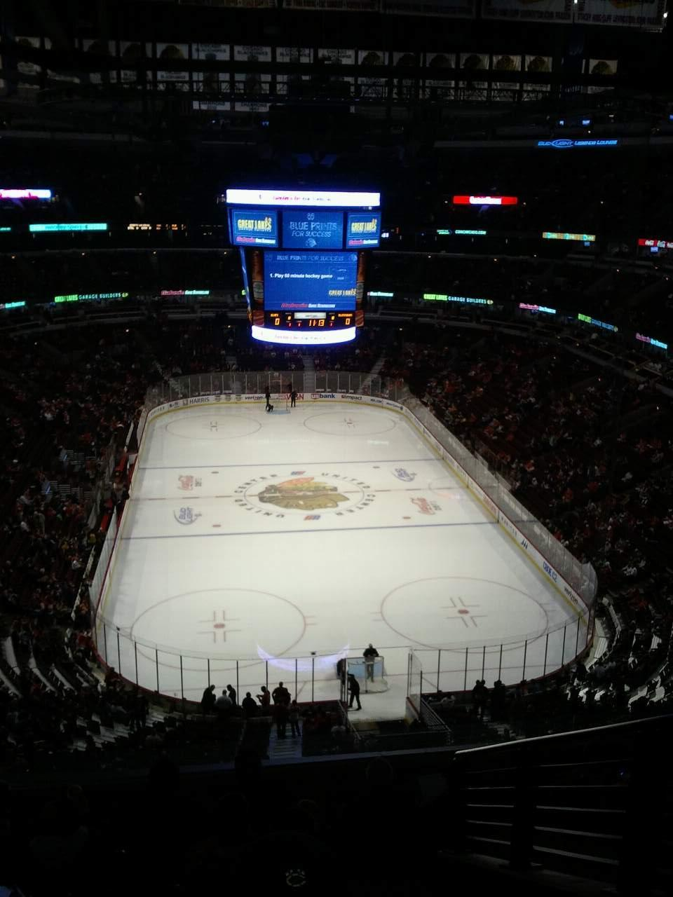 United Center Section 327 Row 9 Seat 4