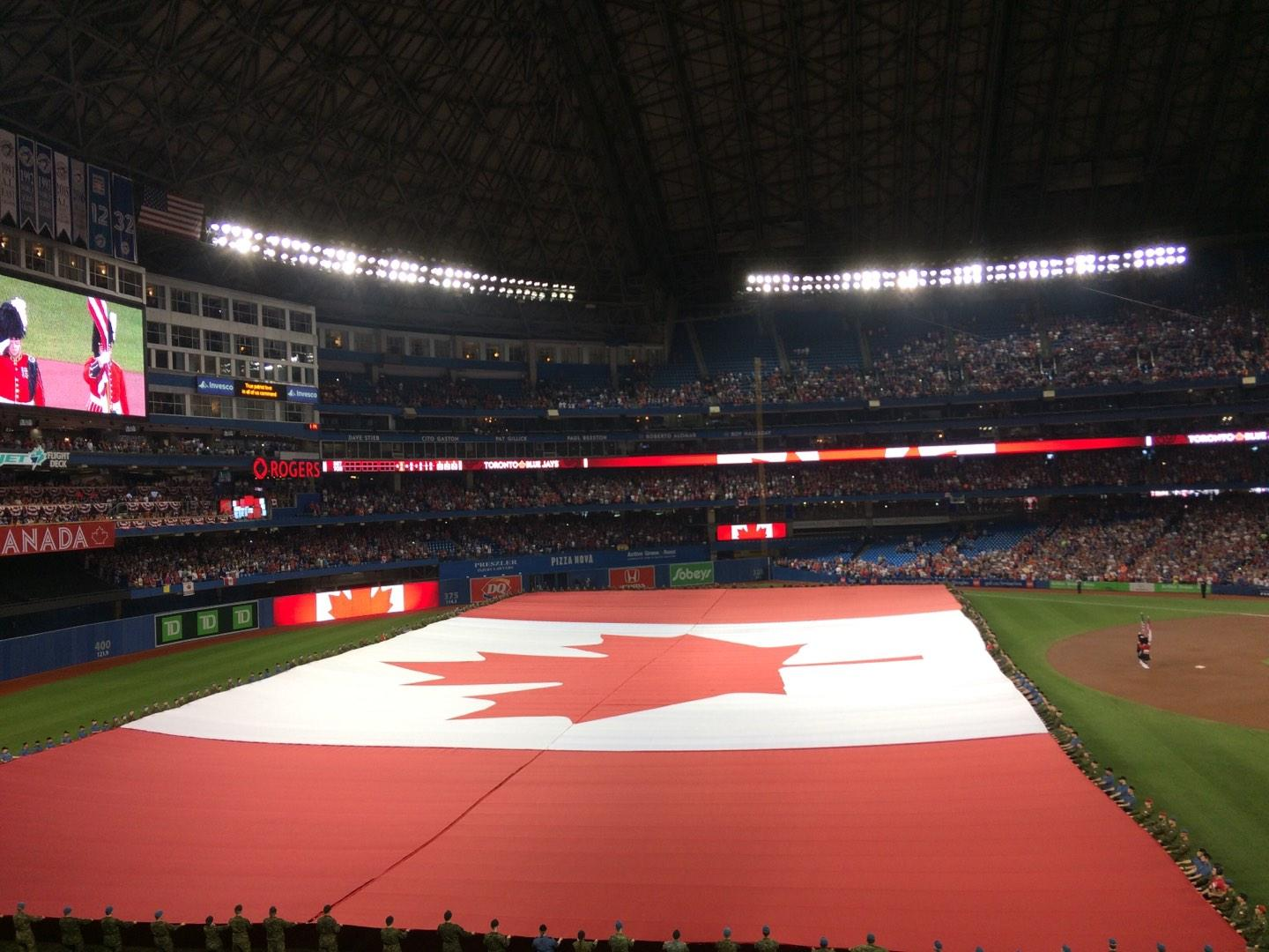 Rogers Centre Section 237L Row 2 Seat 107