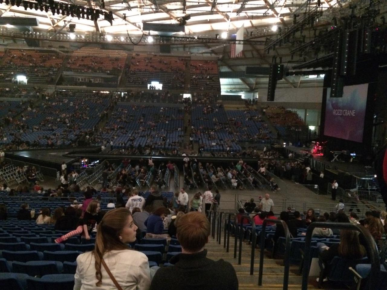 Tacoma Dome Section 8A Row 33 Seat 1