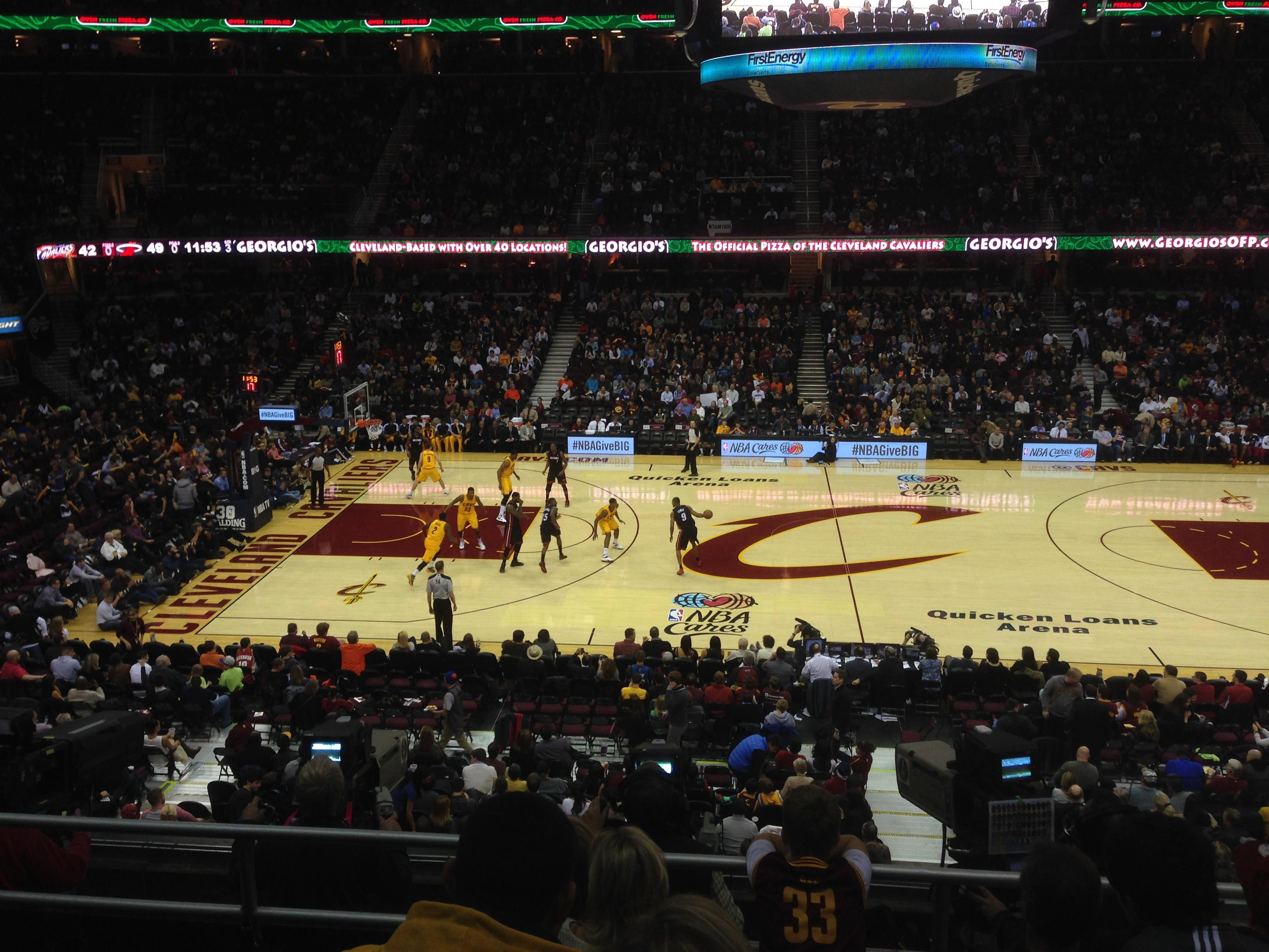 Seat View for Quicken Loans Arena Club 108 Row 21