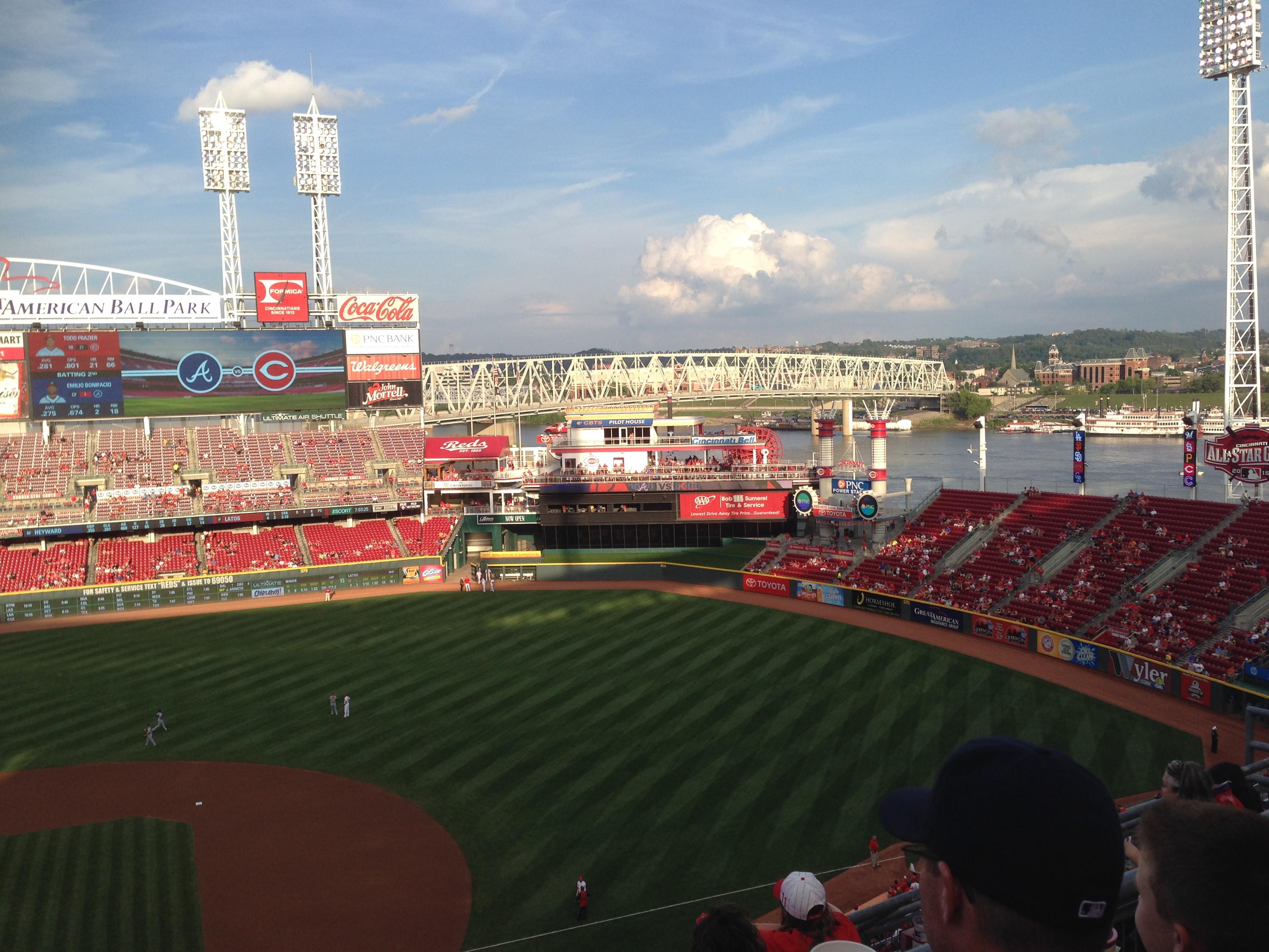 Great American Ball Park Section 530 Row B Seat 14