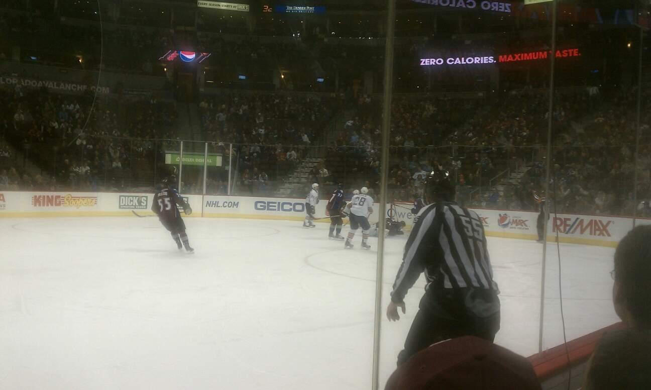 Pepsi Center Section 124 Row 2 Seat 10