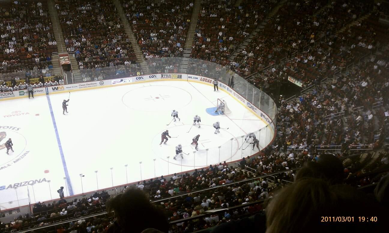 Gila River Arena Section 215 Row D Seat 11