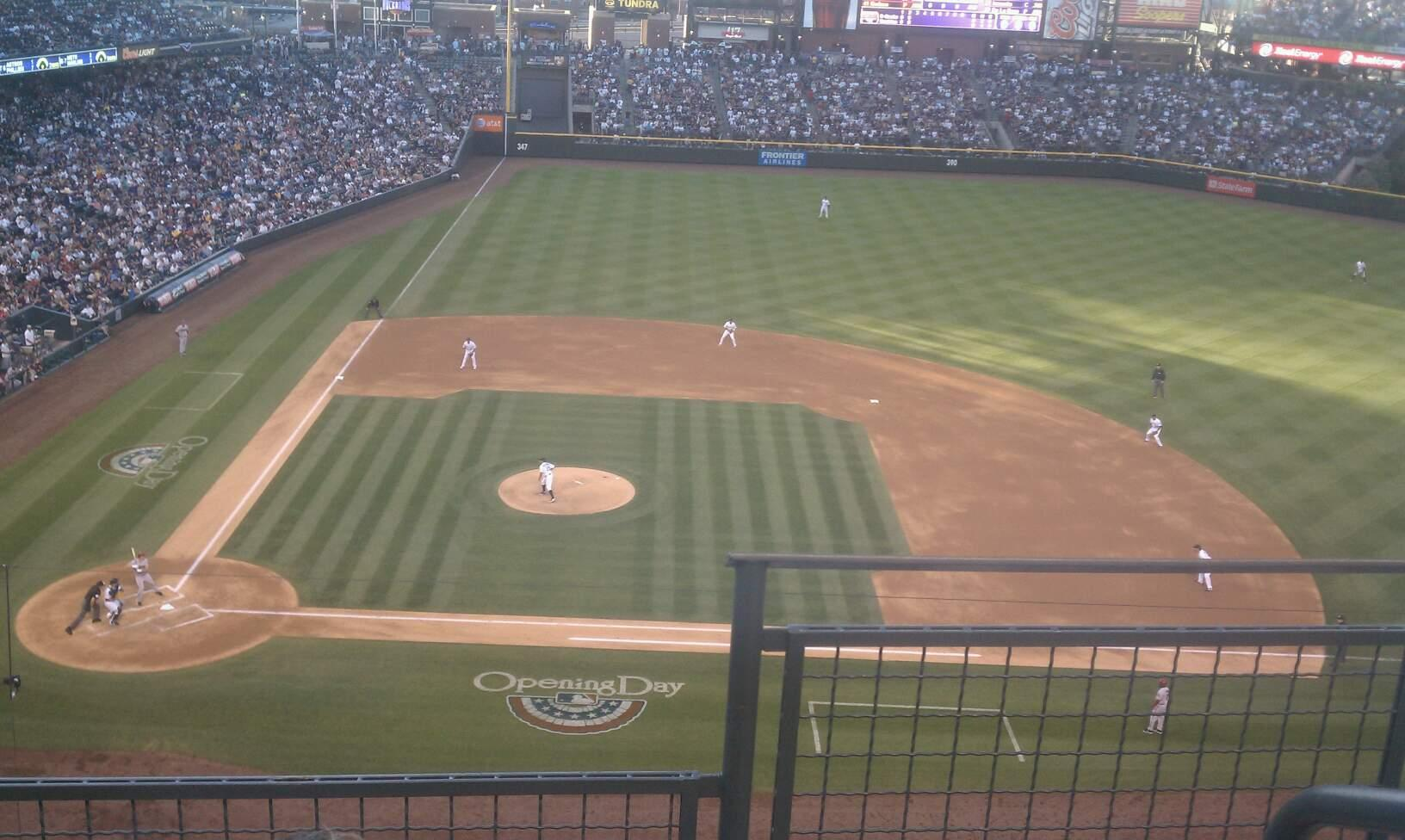Coors Field Section L325 Row 3 Seat 1