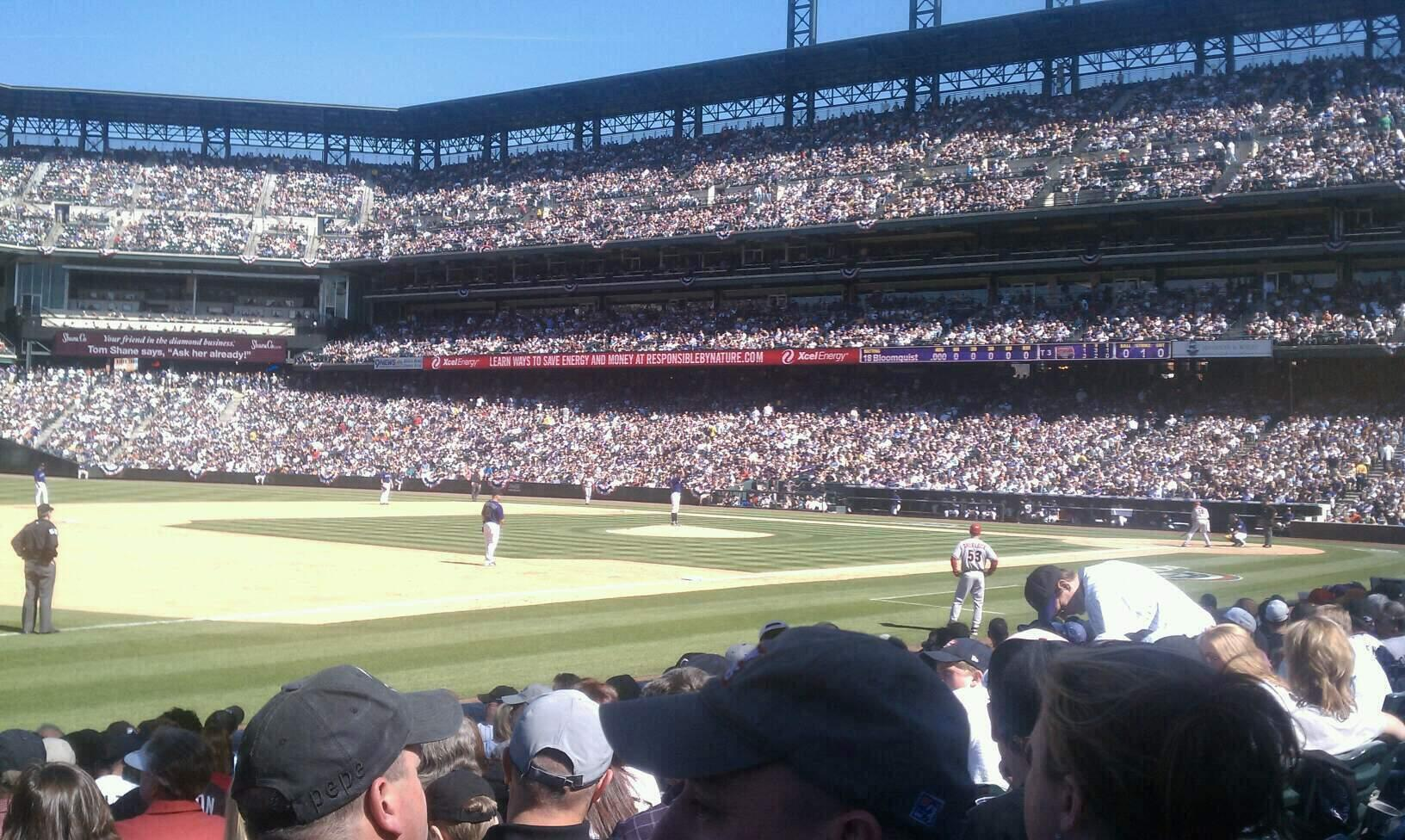 Coors Field Section 142 Row 11 Seat 14