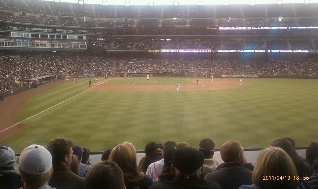 Coors Field Section 107 Row 9 Seat 15