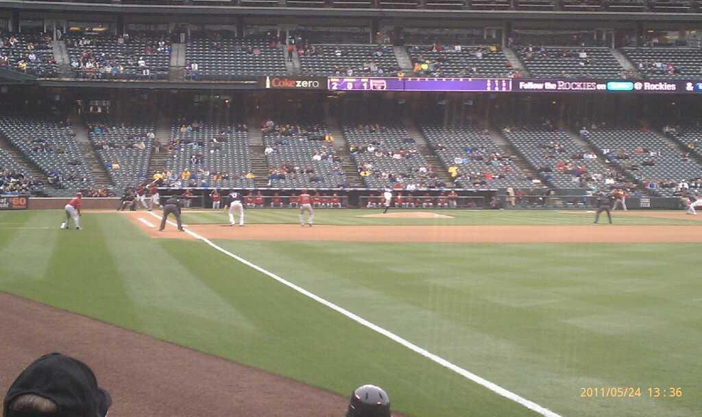 Coors Field Section 112 Row 7 Seat 4