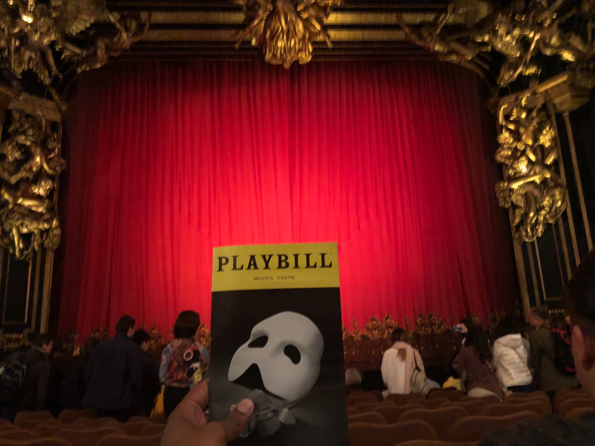 Majestic Theatre Section Orchestra C Row H Seat 106