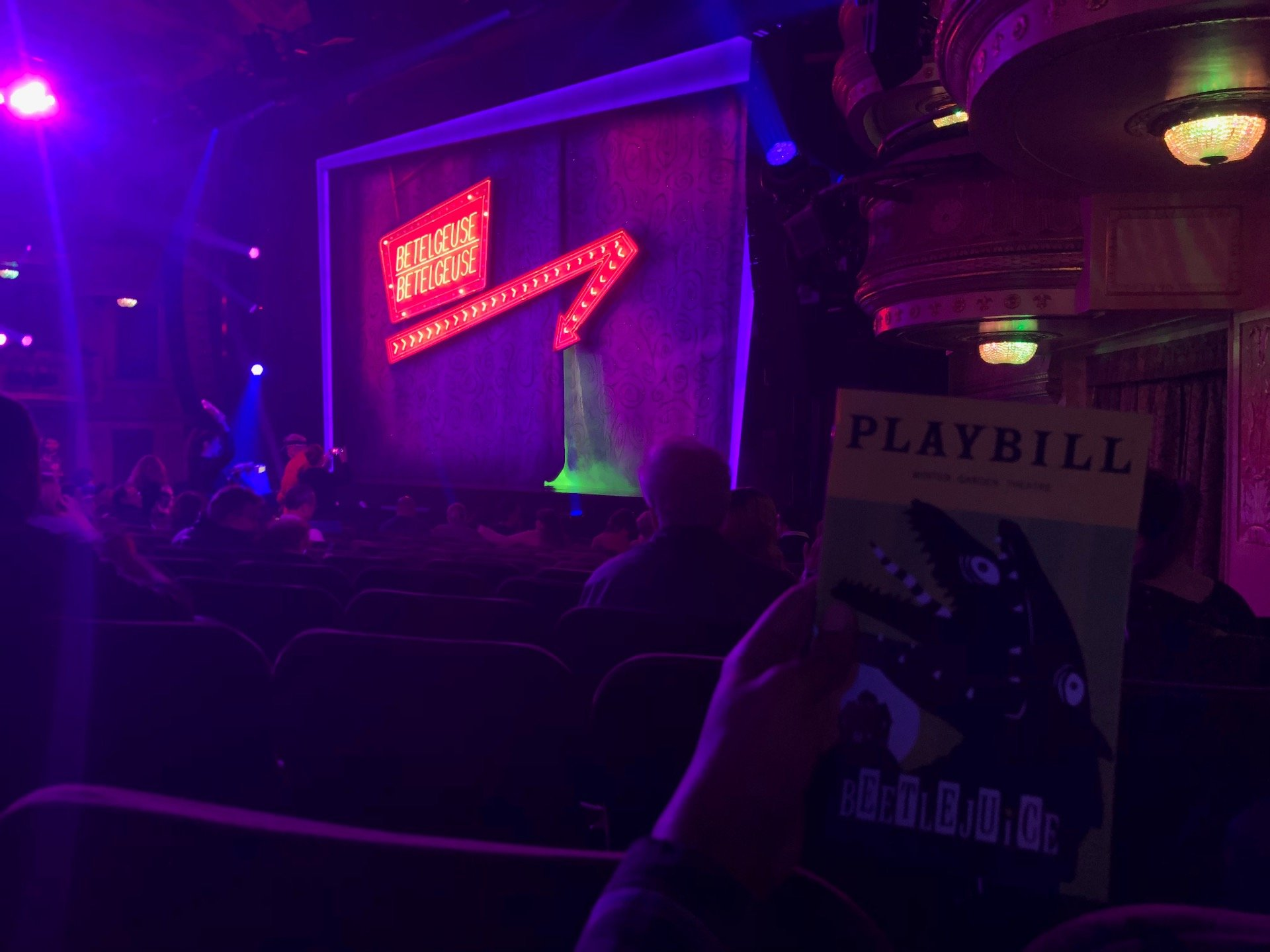 Winter Garden Theatre Section Orchestra R Row N Seat 32